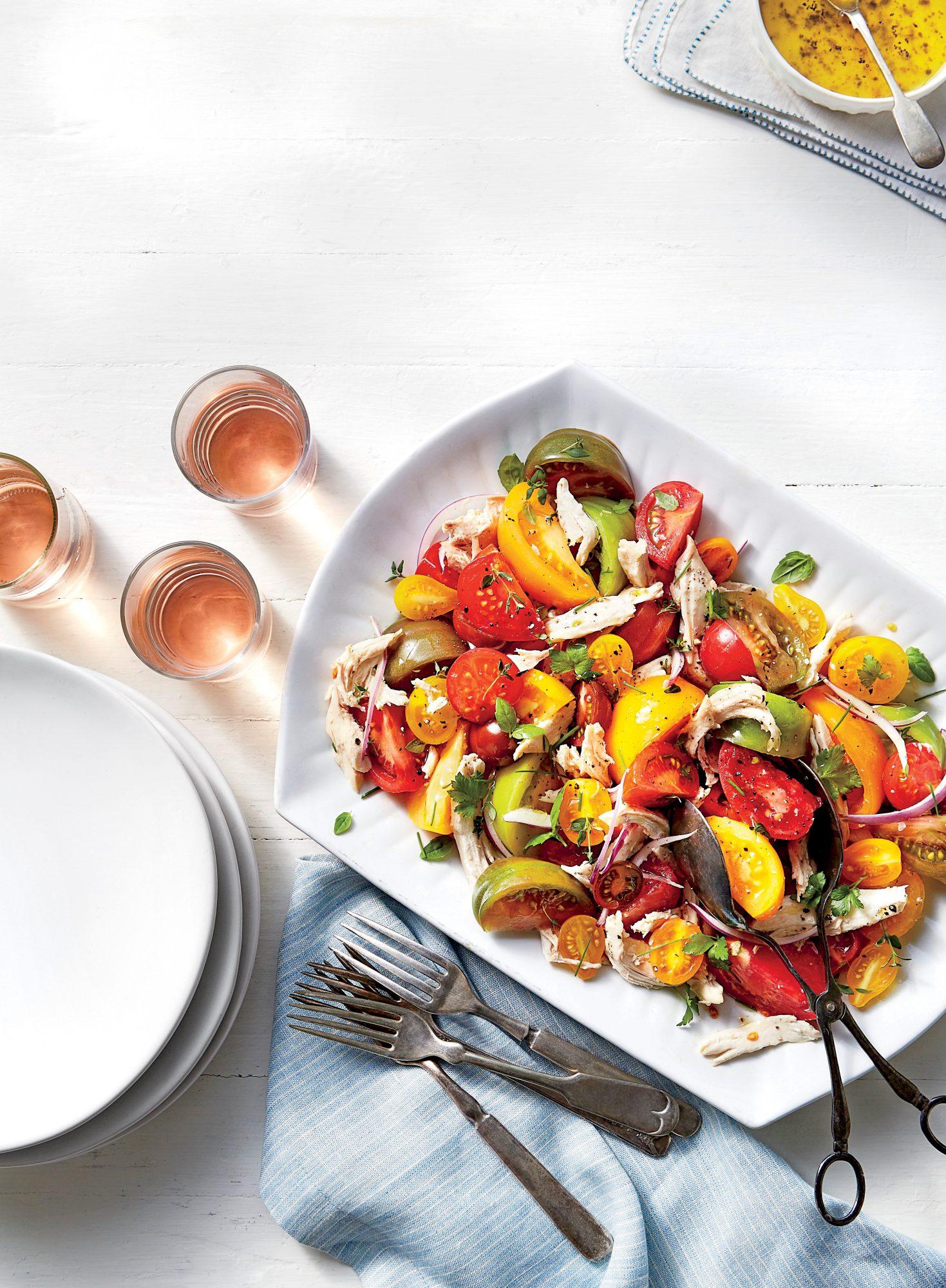 Heirloom Tomato and Chicken Toss