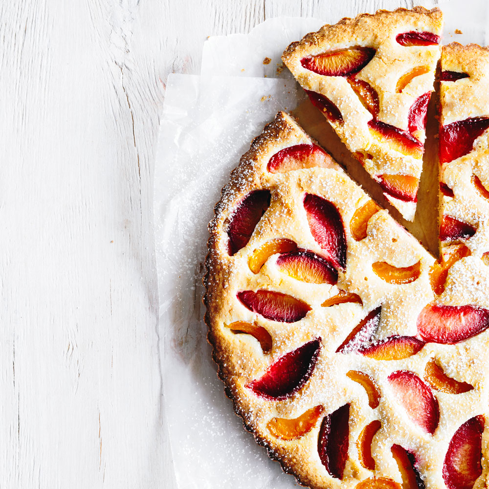 Apricot and Pluot Mosaic Cake