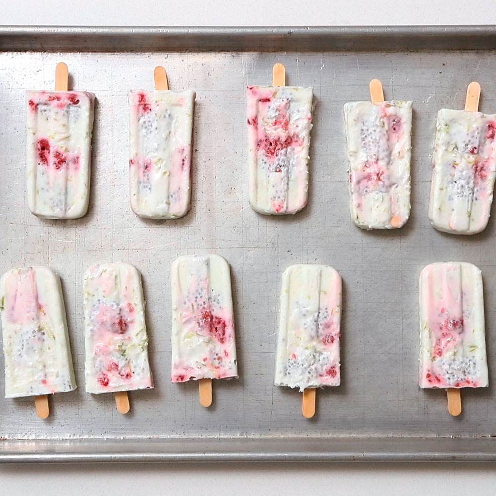 Coconut Lime Chia Pudding Pops