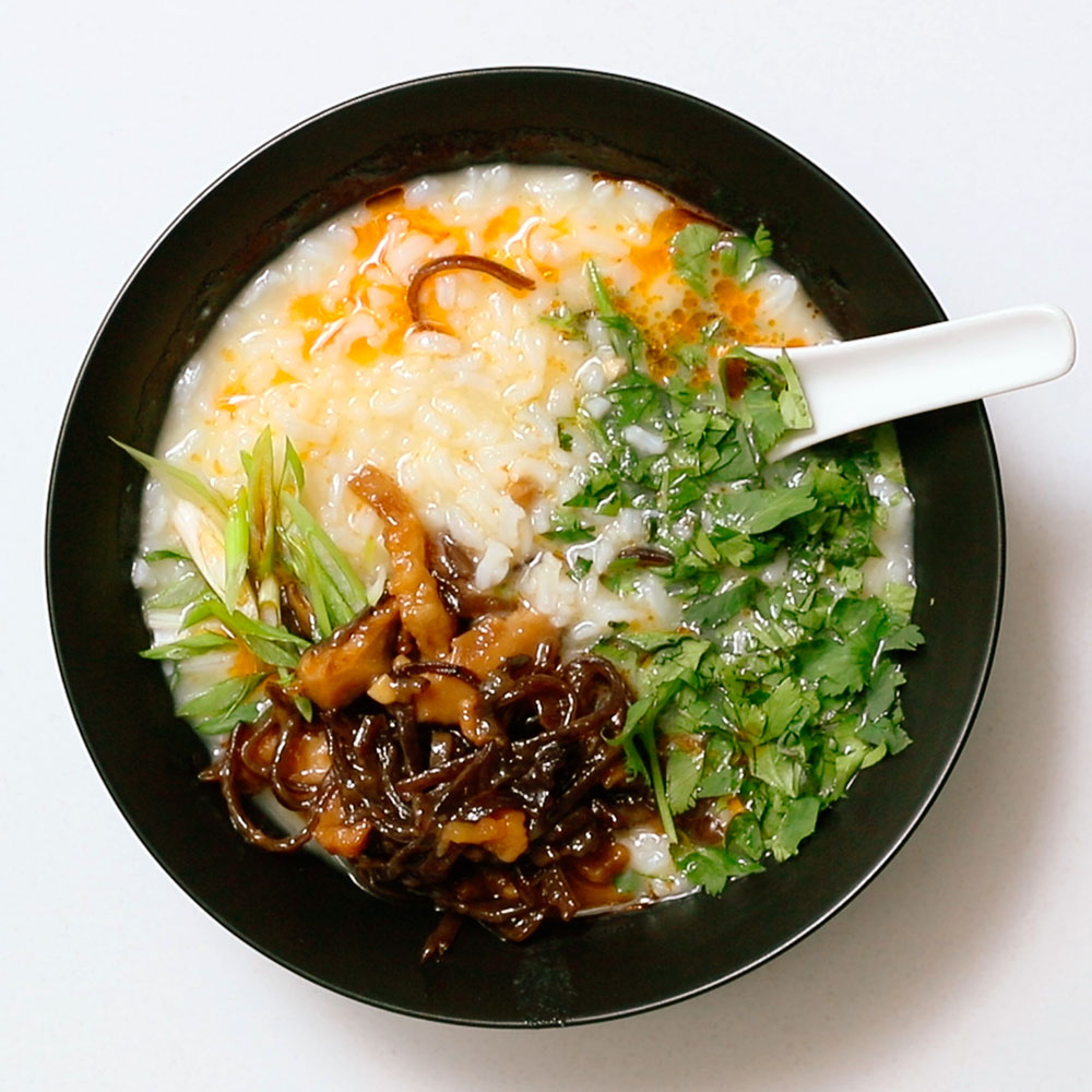 how to make congee with rice cooker