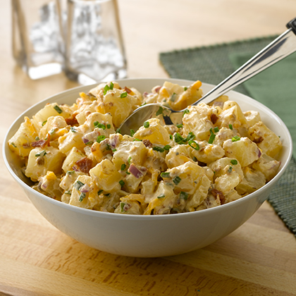 Cheesy Bacon Potato Salad