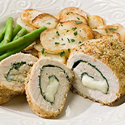 Spinach & Mozzarella Stuffed Chicken
