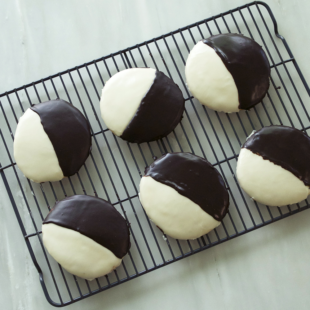 <p>Black and White Cookies</p>