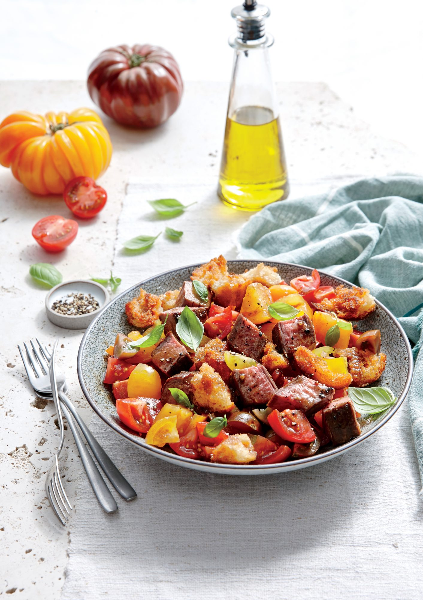 Steak and Tomato Panzanella