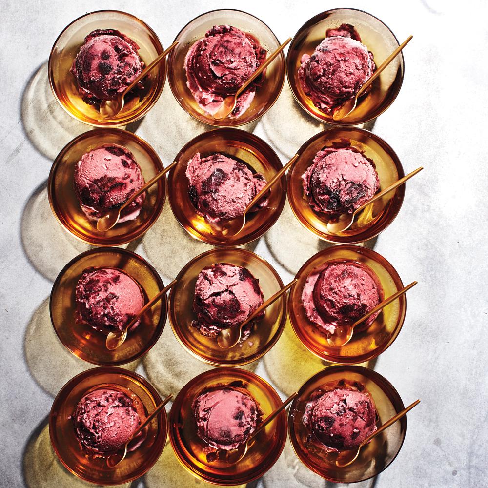 Cherry-Vanilla Buttermilk Ice Cream