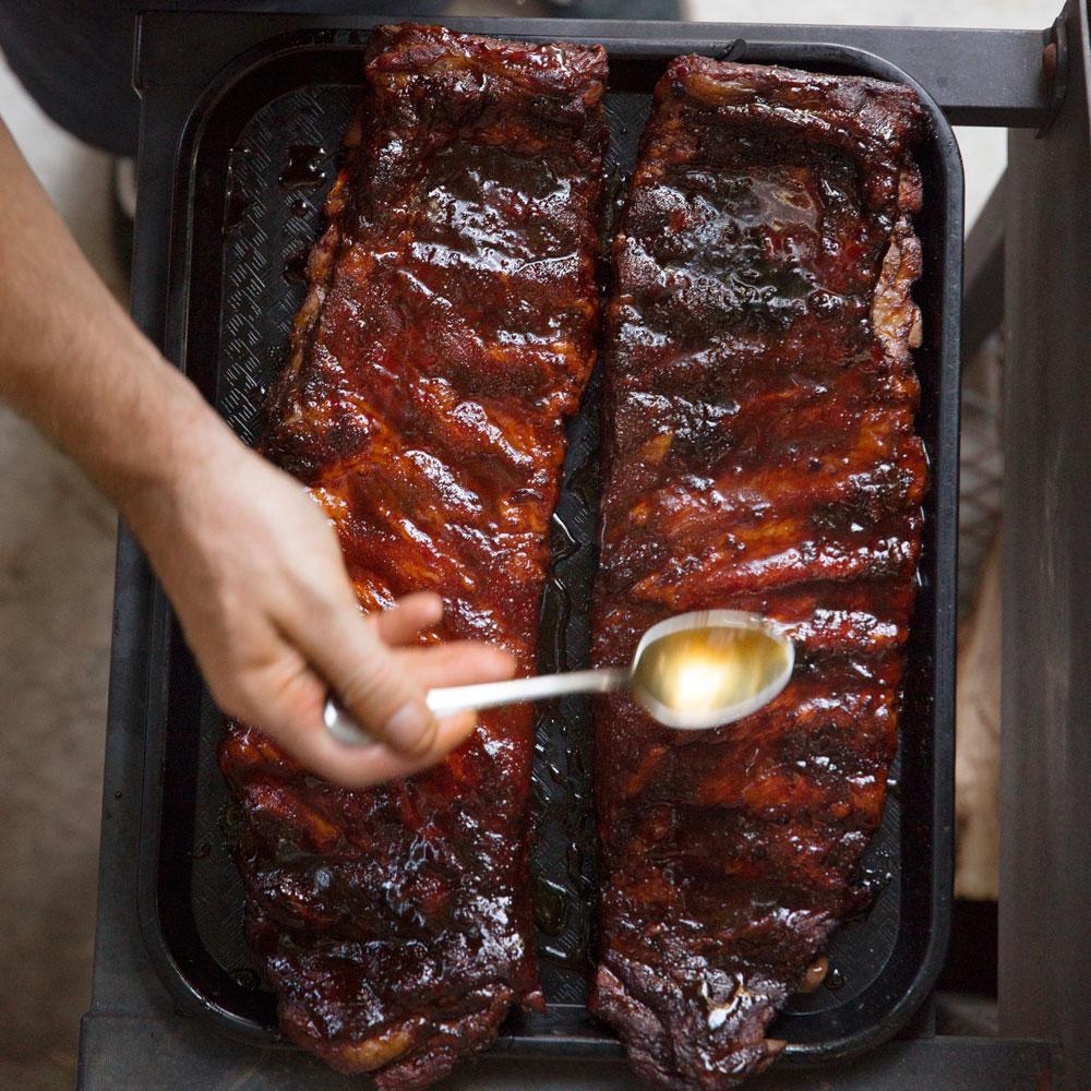 Ginger Rosemary Smoked Pork Ribs