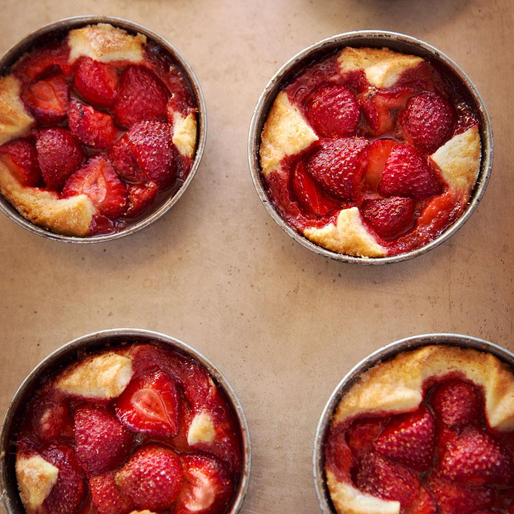 Strawberry and Cornmeal Crostatas