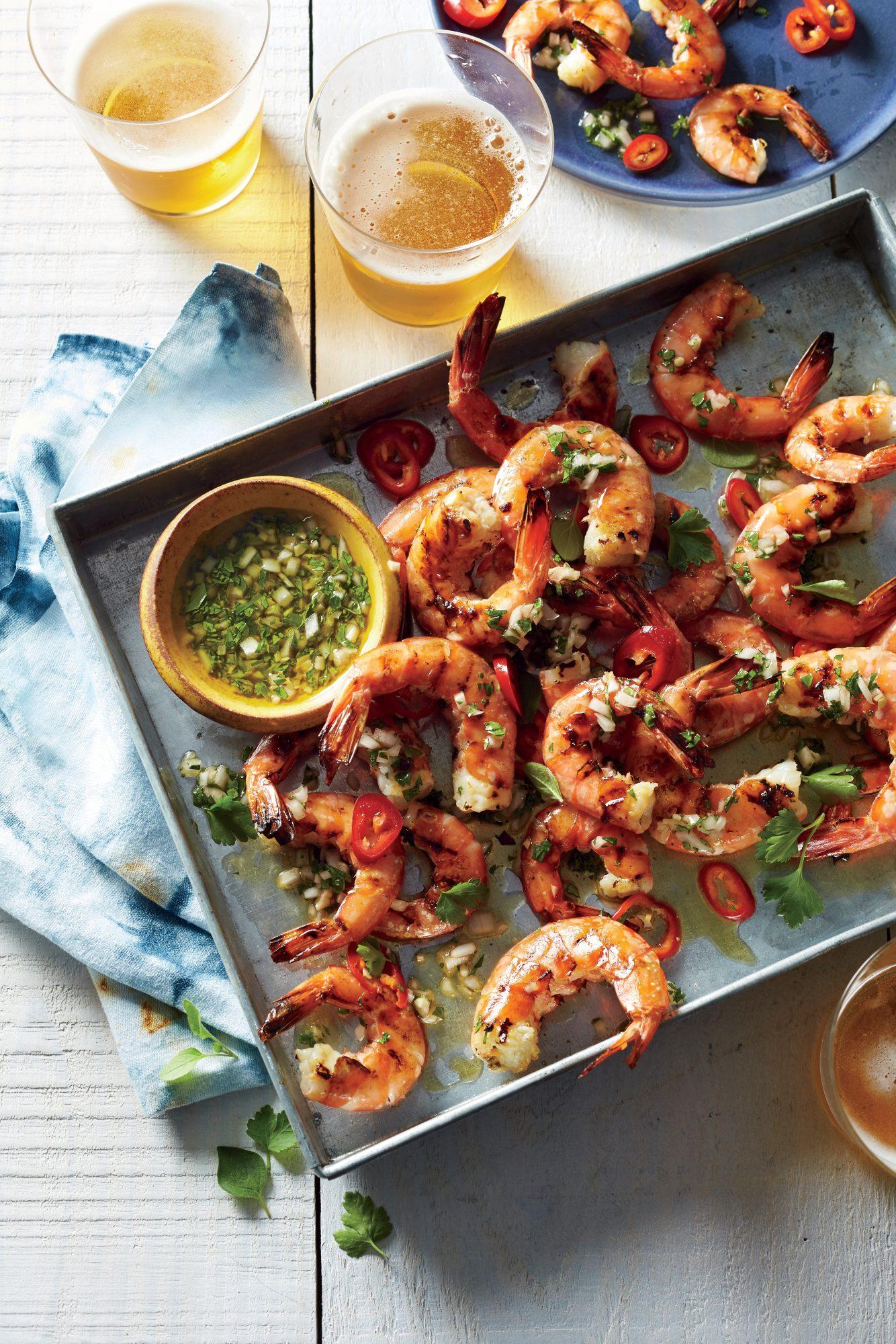 Honey-Brined Grilled Shrimp