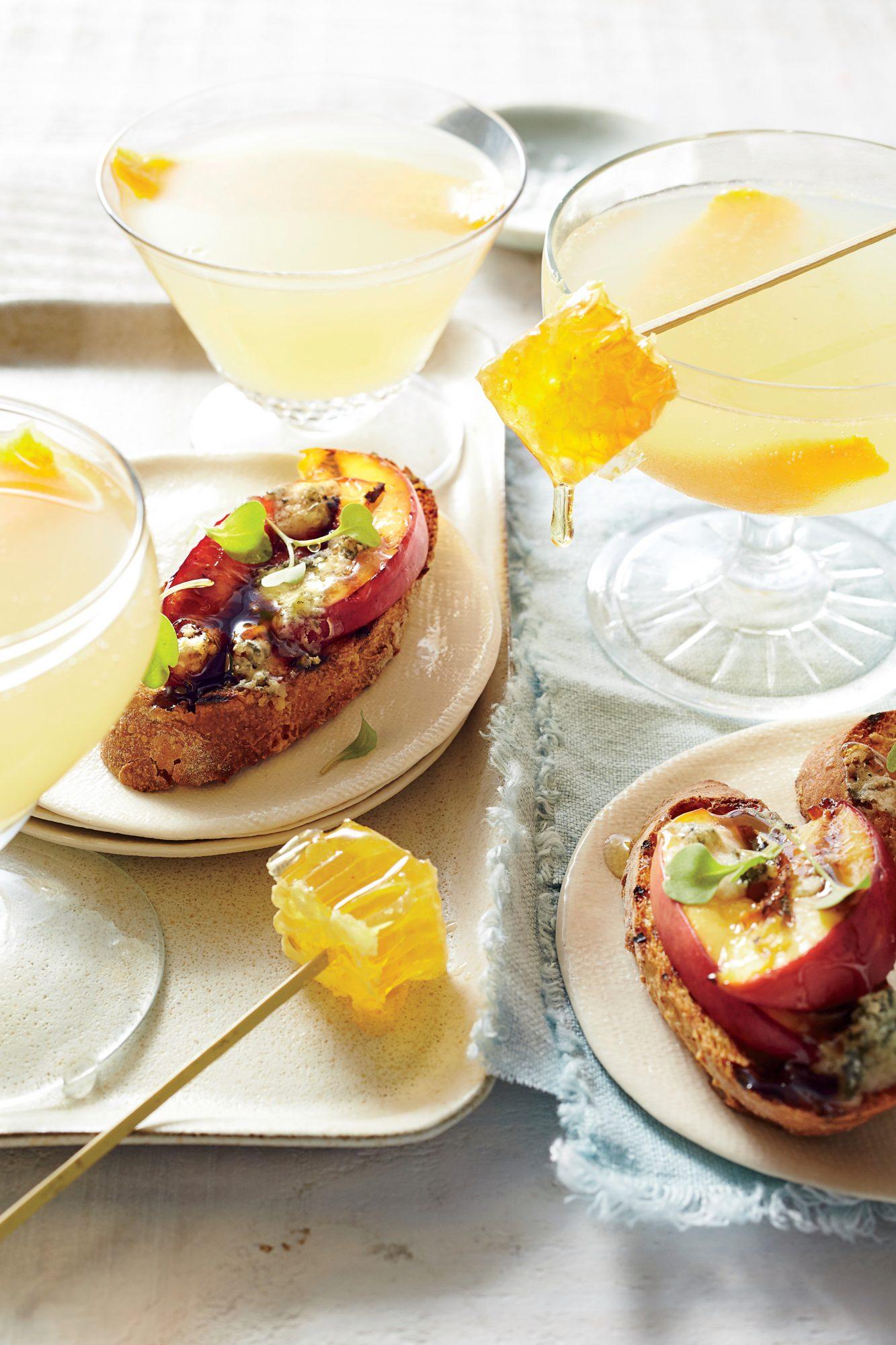 Grilled Nectarine and Blue Cheese Bruschetta