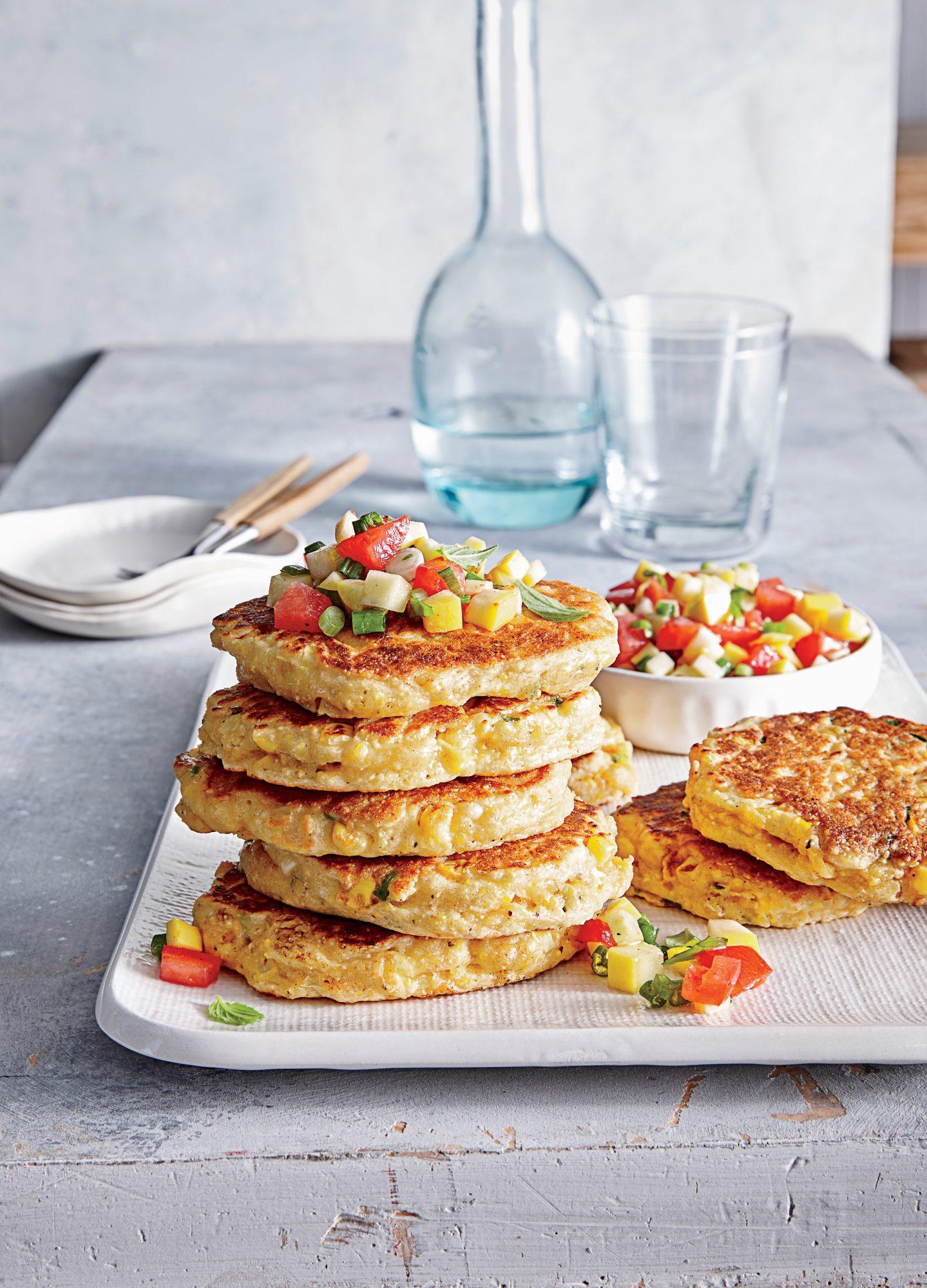 Fresh Corn Cakes with Summer Salsa