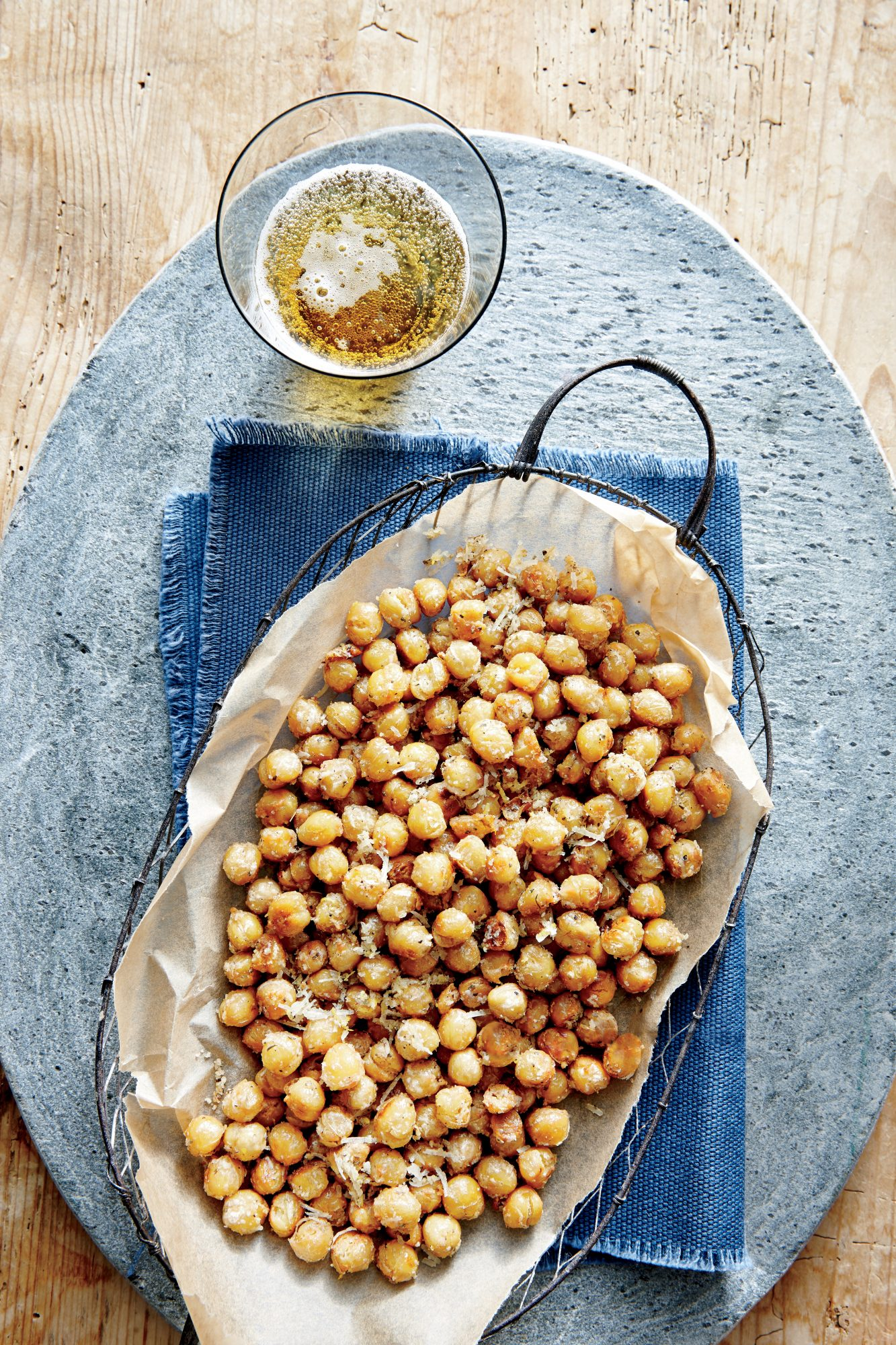 Crispy Parmesan Chickpeas