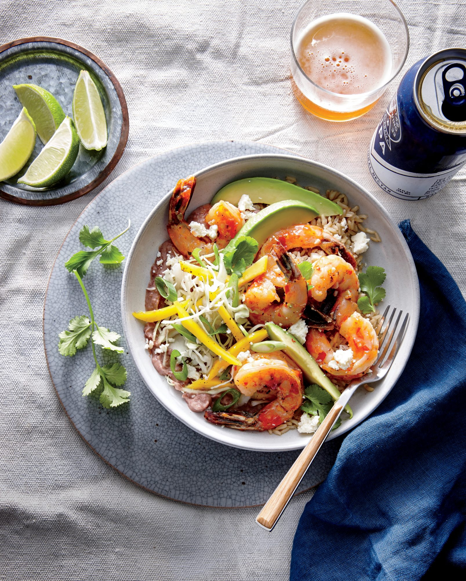 Shrimp and Bean Burrito Bowl