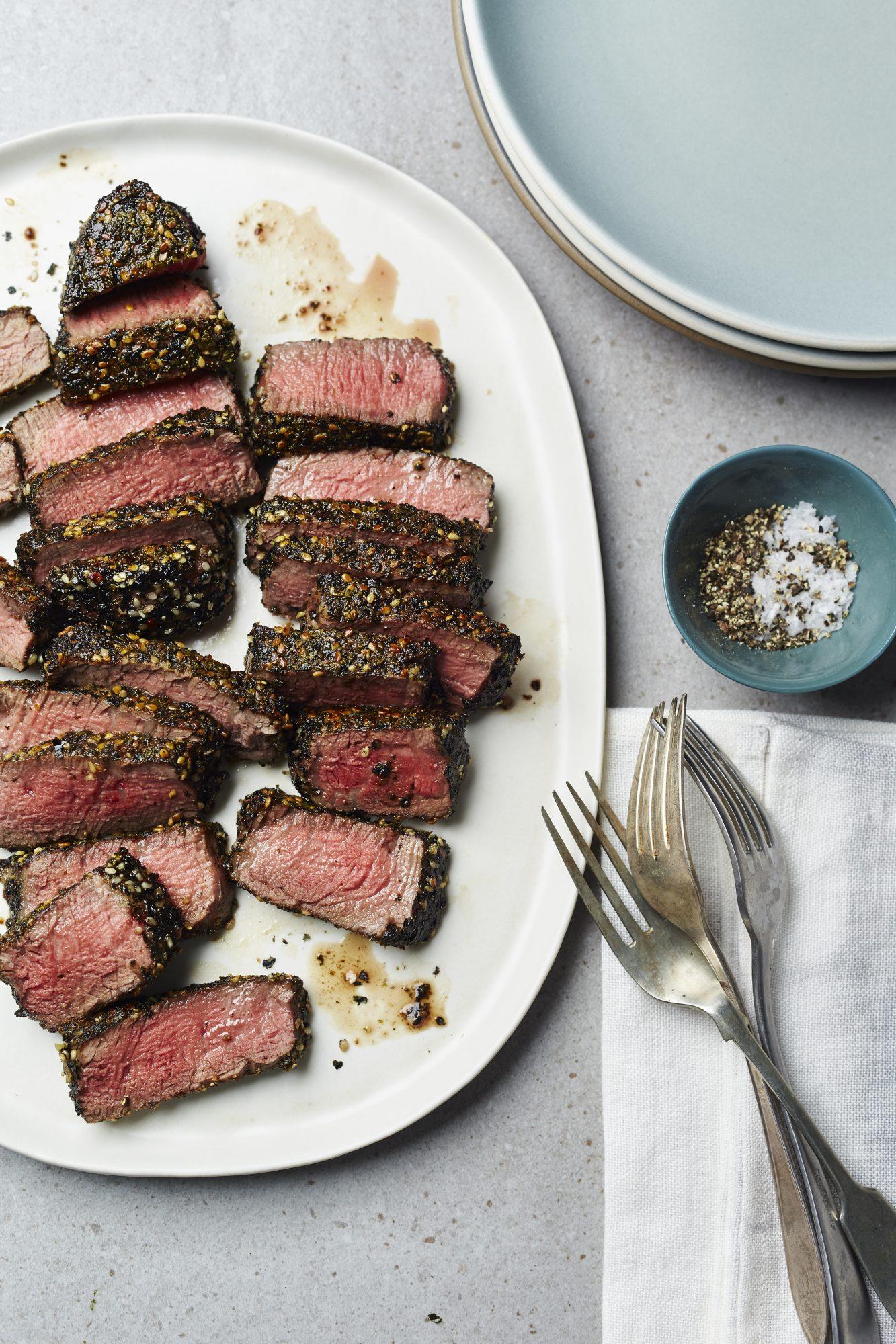 Nori-Crusted Steaks
