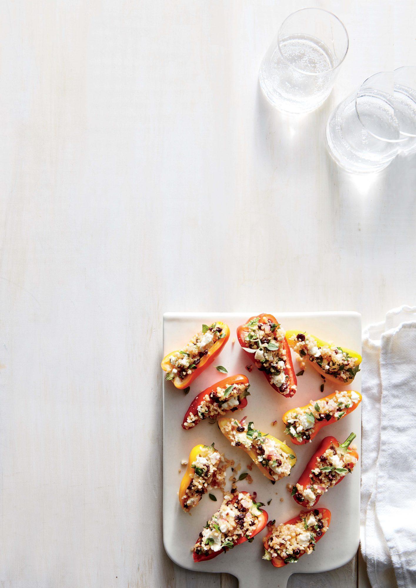 Bulgur-Stuffed Mini Peppers
