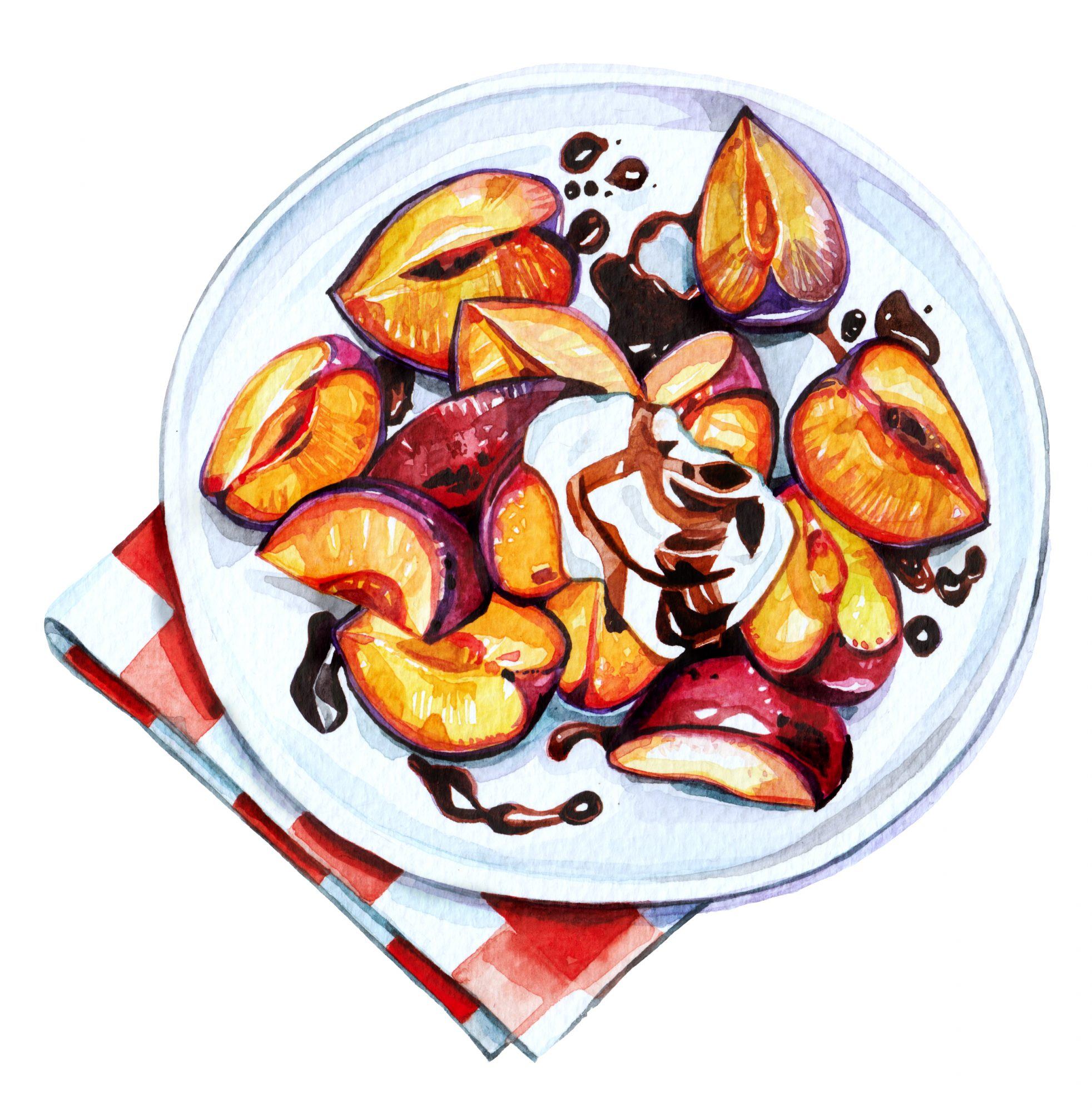 Balsamic Glazed and Roasted Plums
