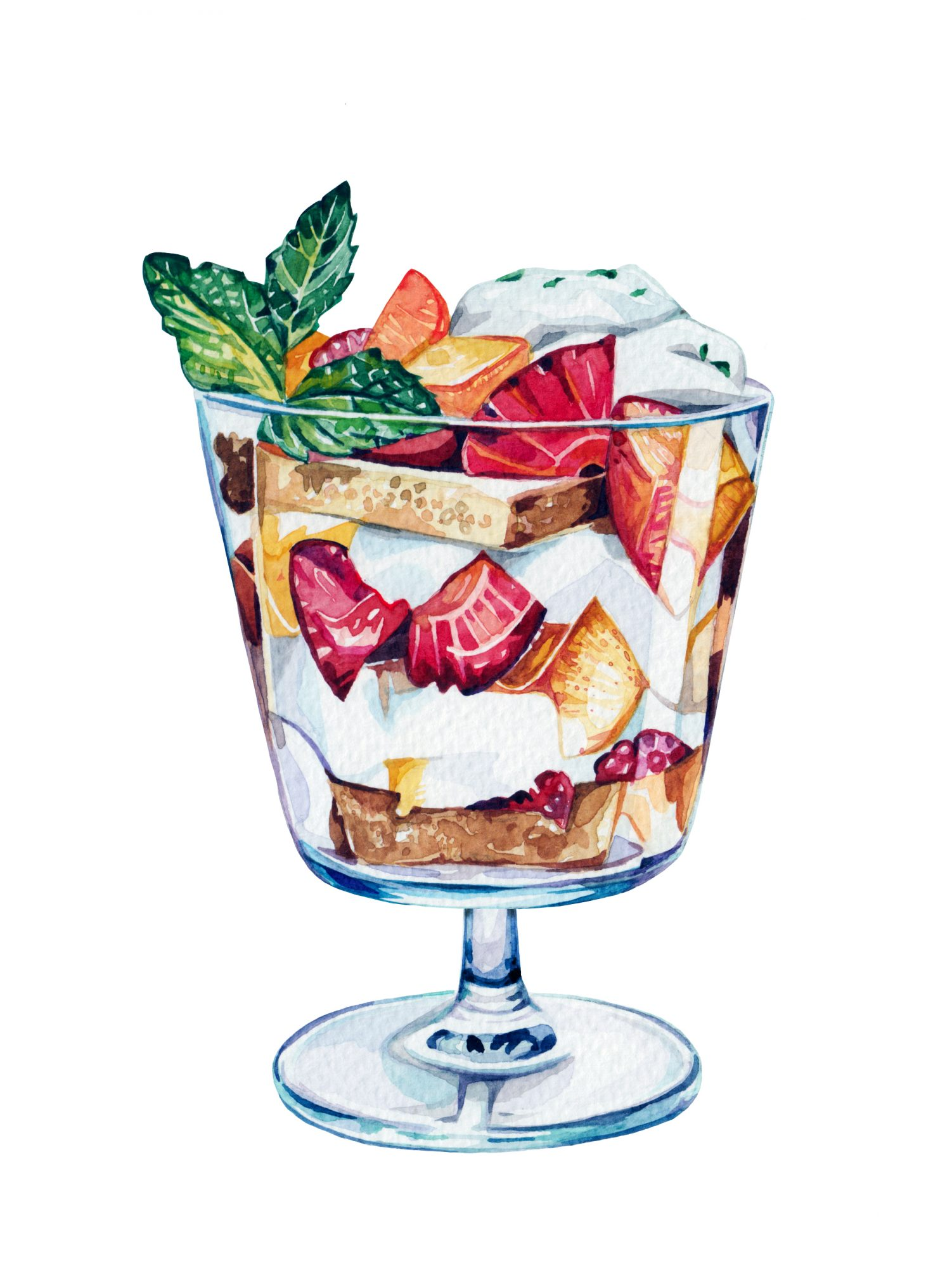 Strawberry-Peach Parfaits