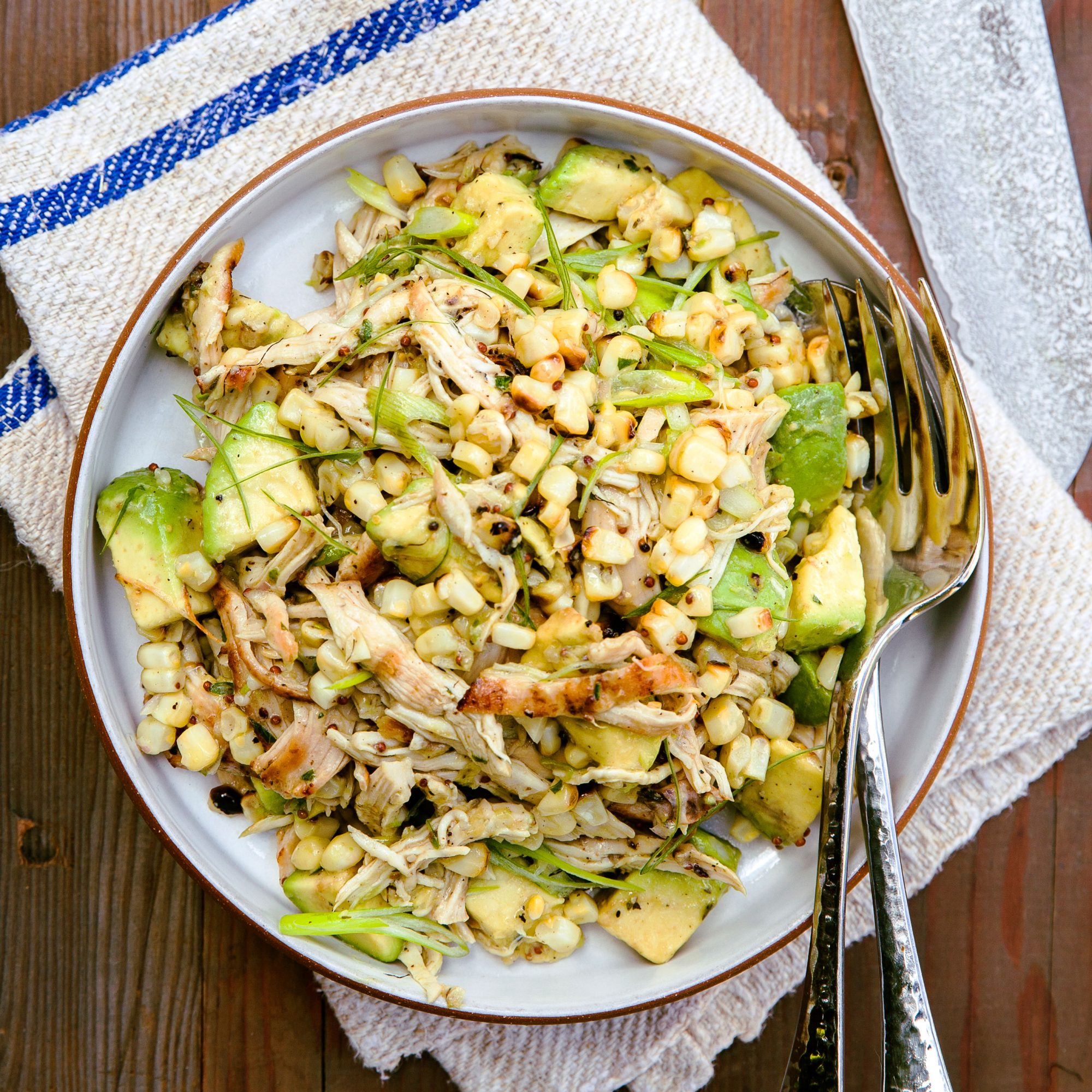 Chicken Salad with Miso Dressing