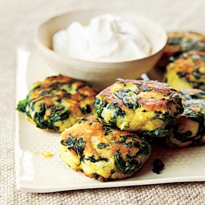 Spinach Potato Fritters