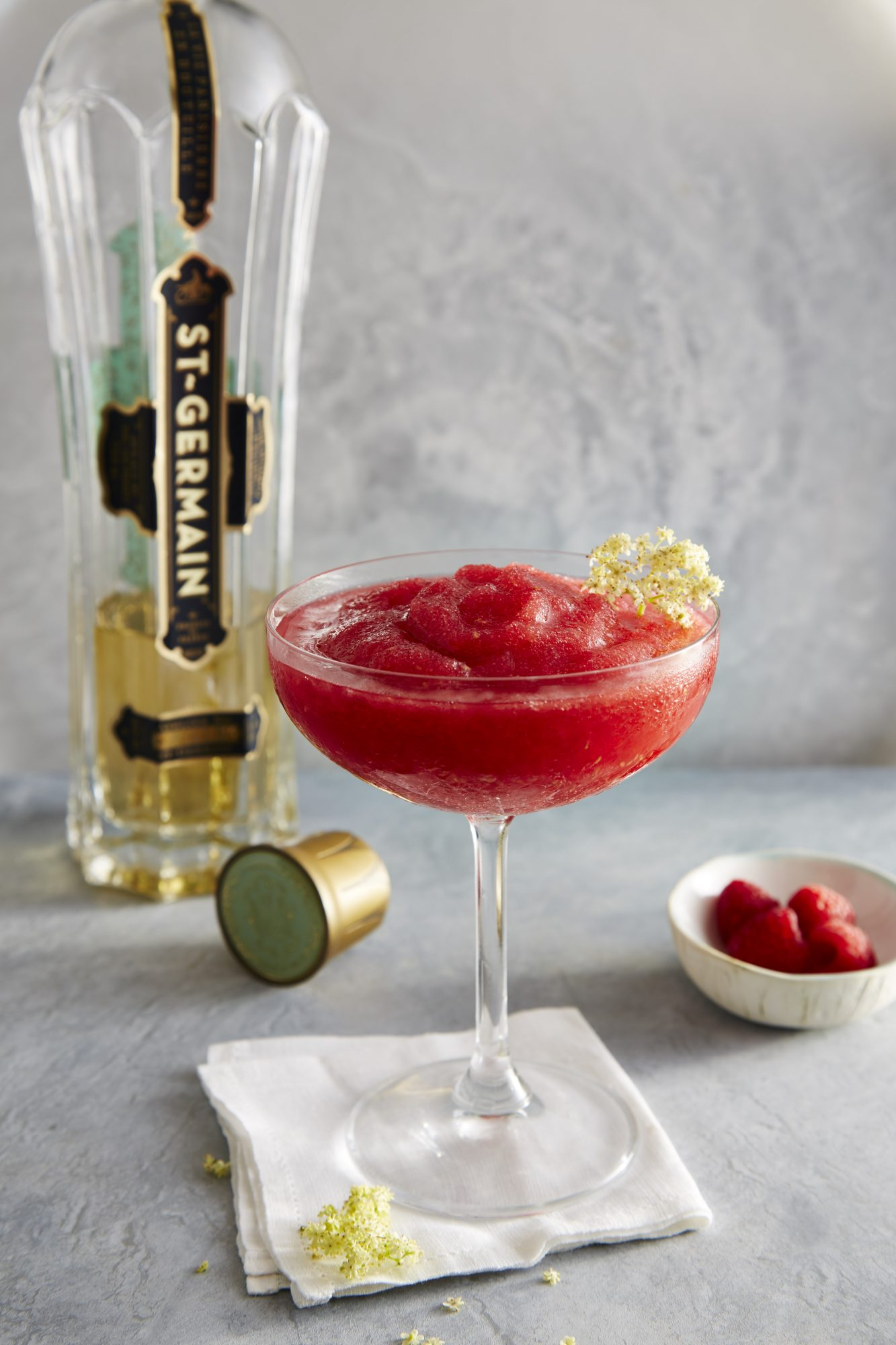 mr-Elderflower and Raspberry Rosé Slushie Image