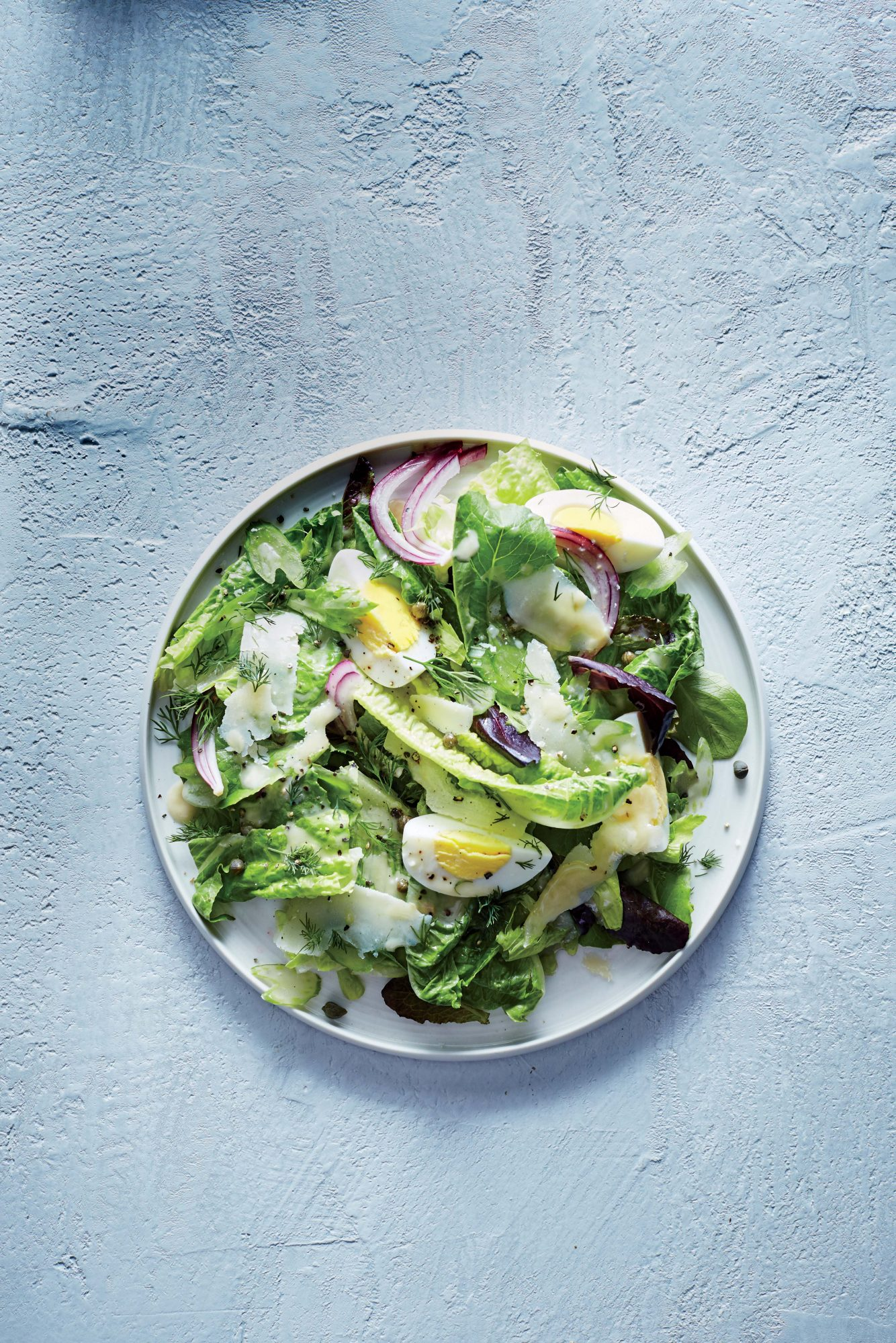 Romaine, Celery, and Parmesan Salad