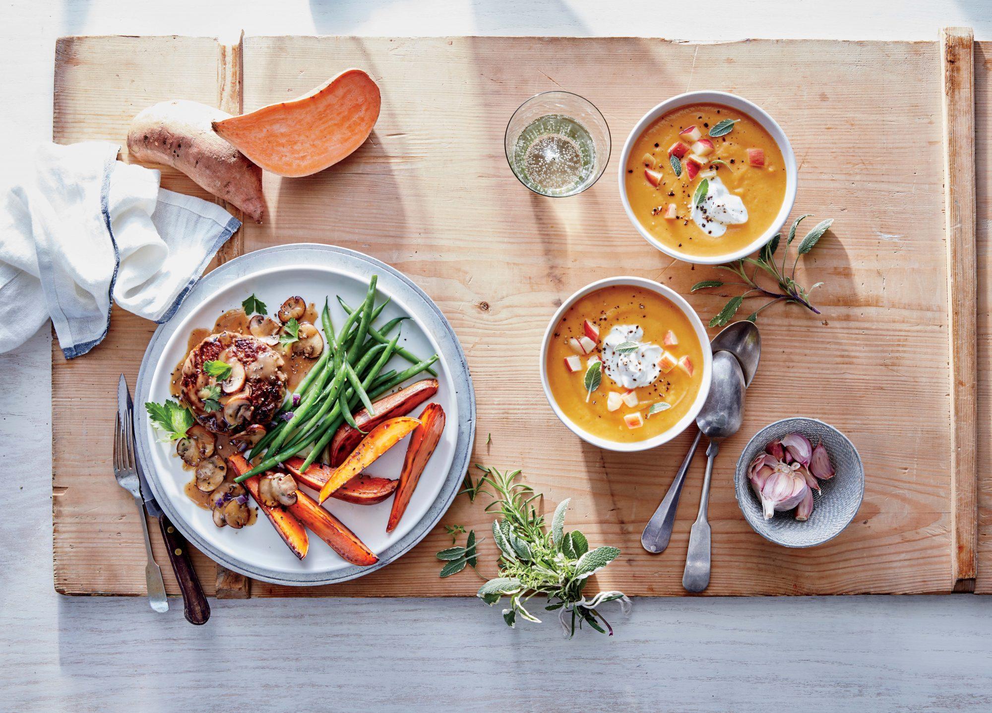 Sweet Potato and White Bean Soup Image