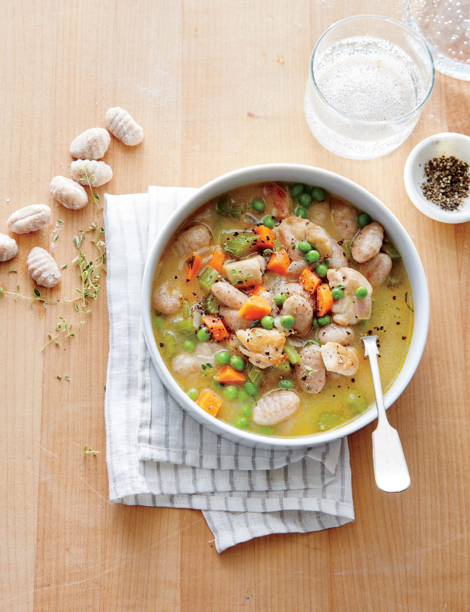 Chicken and Gnocchi Dumpling Soup Image