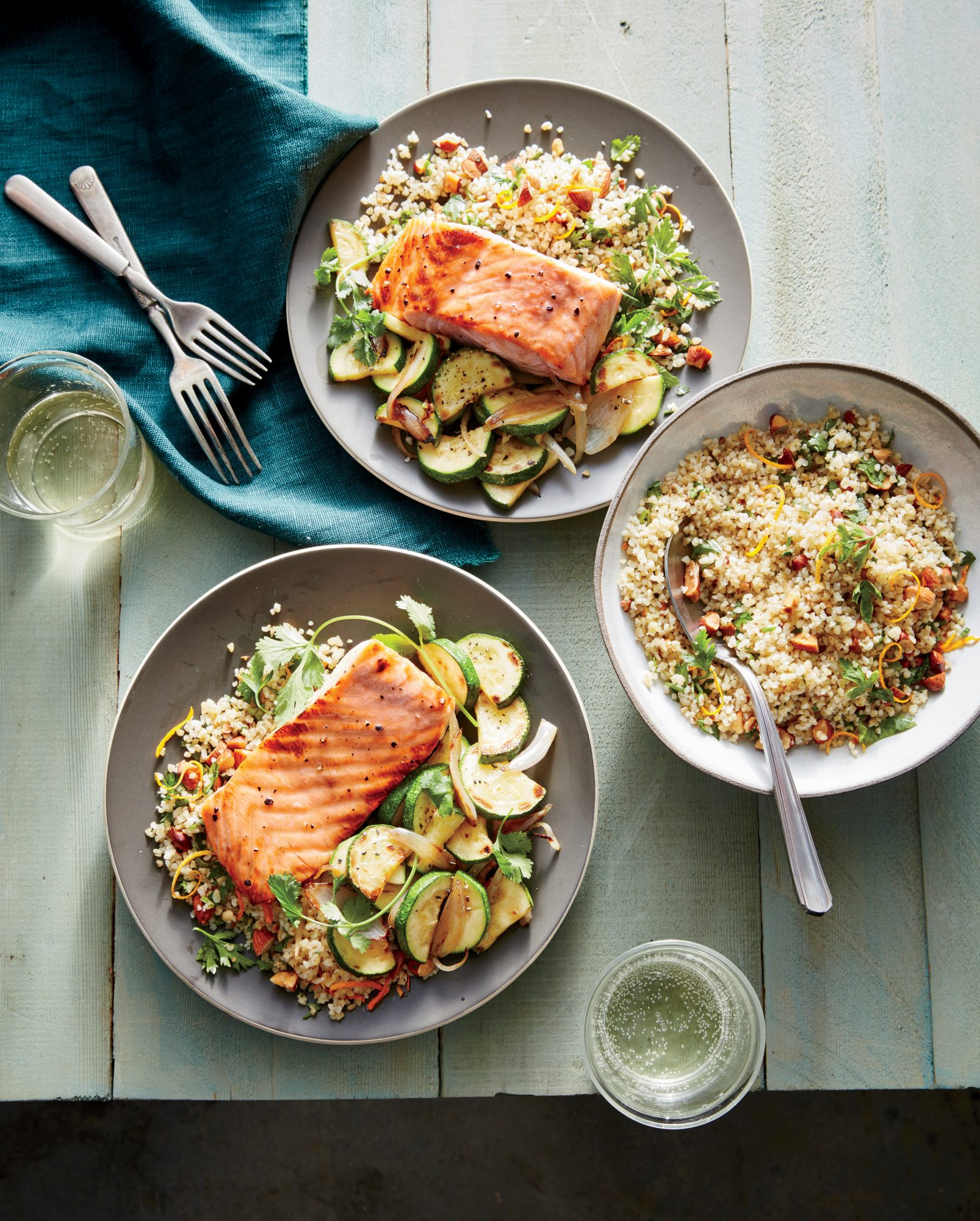 Honey dijon glazed salmon with flash cooked zucchini recipe honey dijon glazed salmon with flash cooked zucchini ccuart Gallery