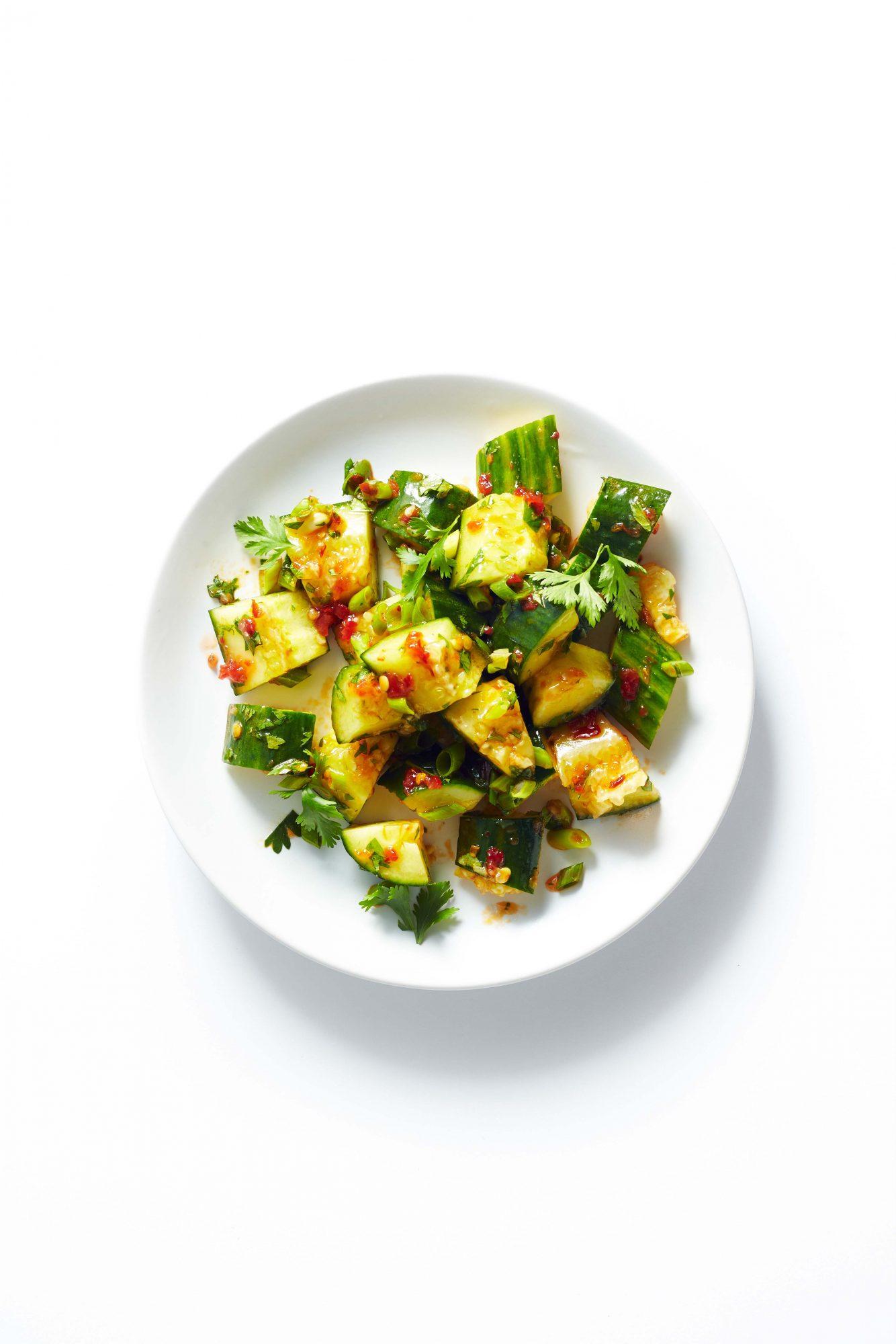 Smashed Cucumber Salad Image