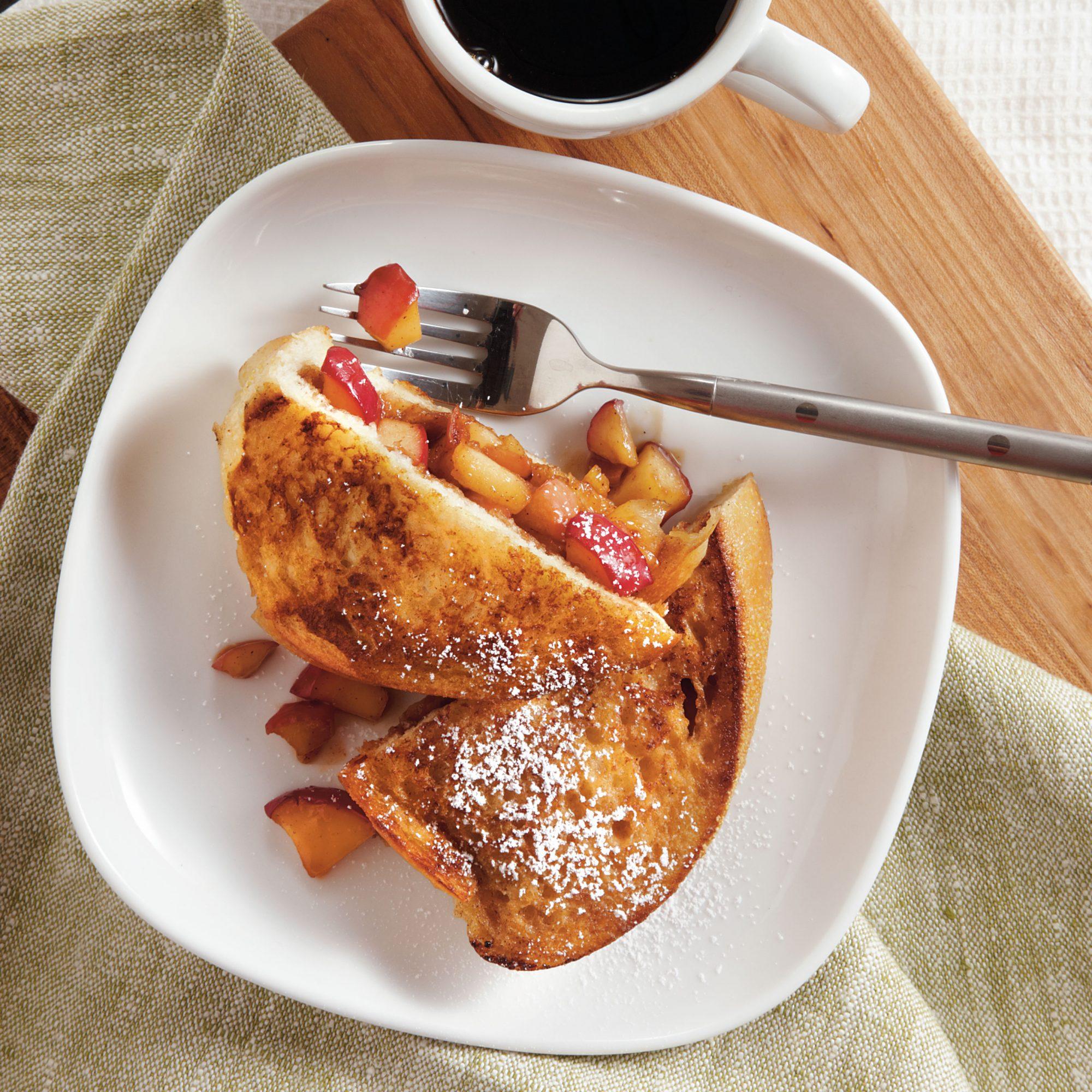 cinnamon apple stuffed french toast recipe myrecipes. Black Bedroom Furniture Sets. Home Design Ideas