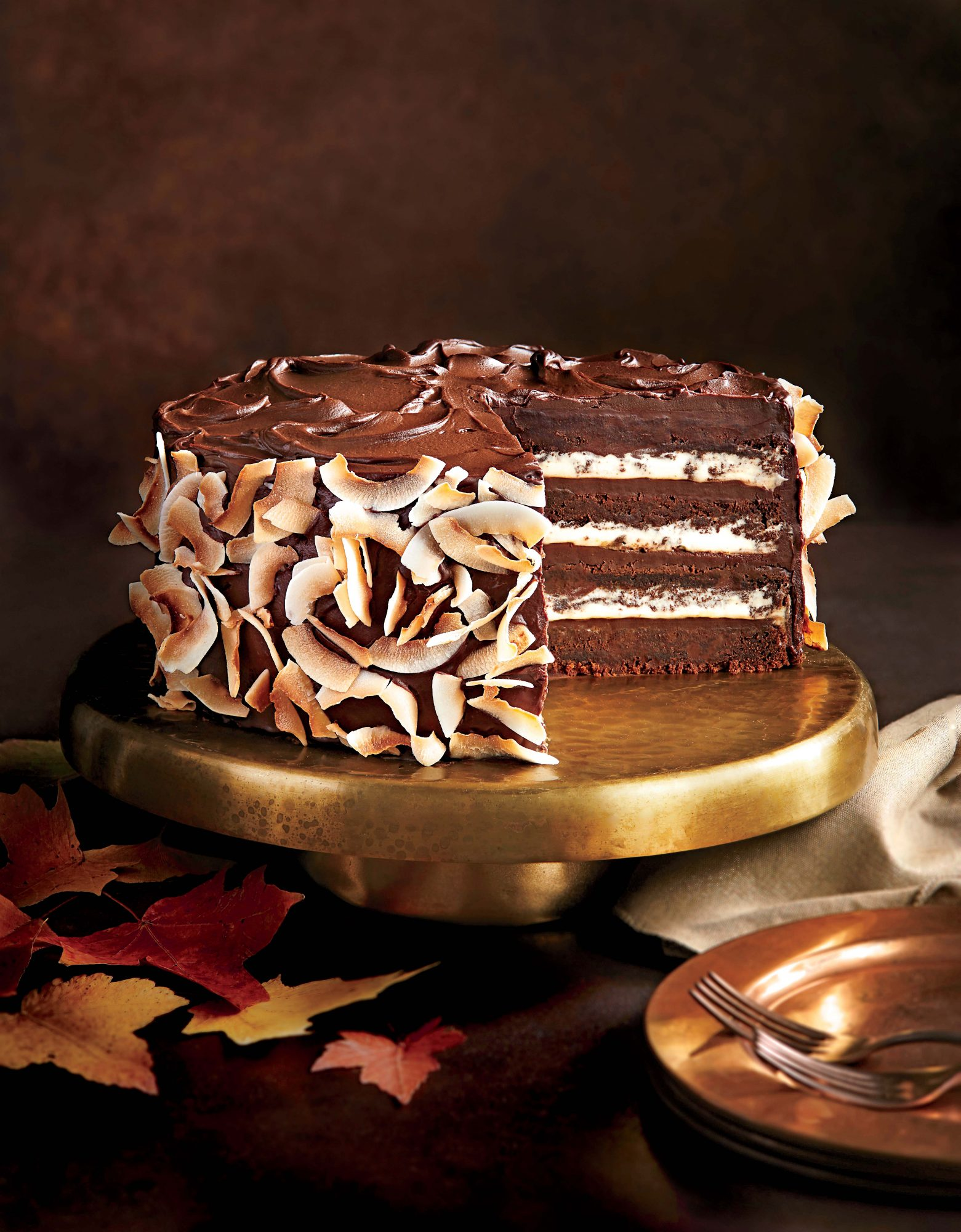 Chocolate-Coconut Layer Cake