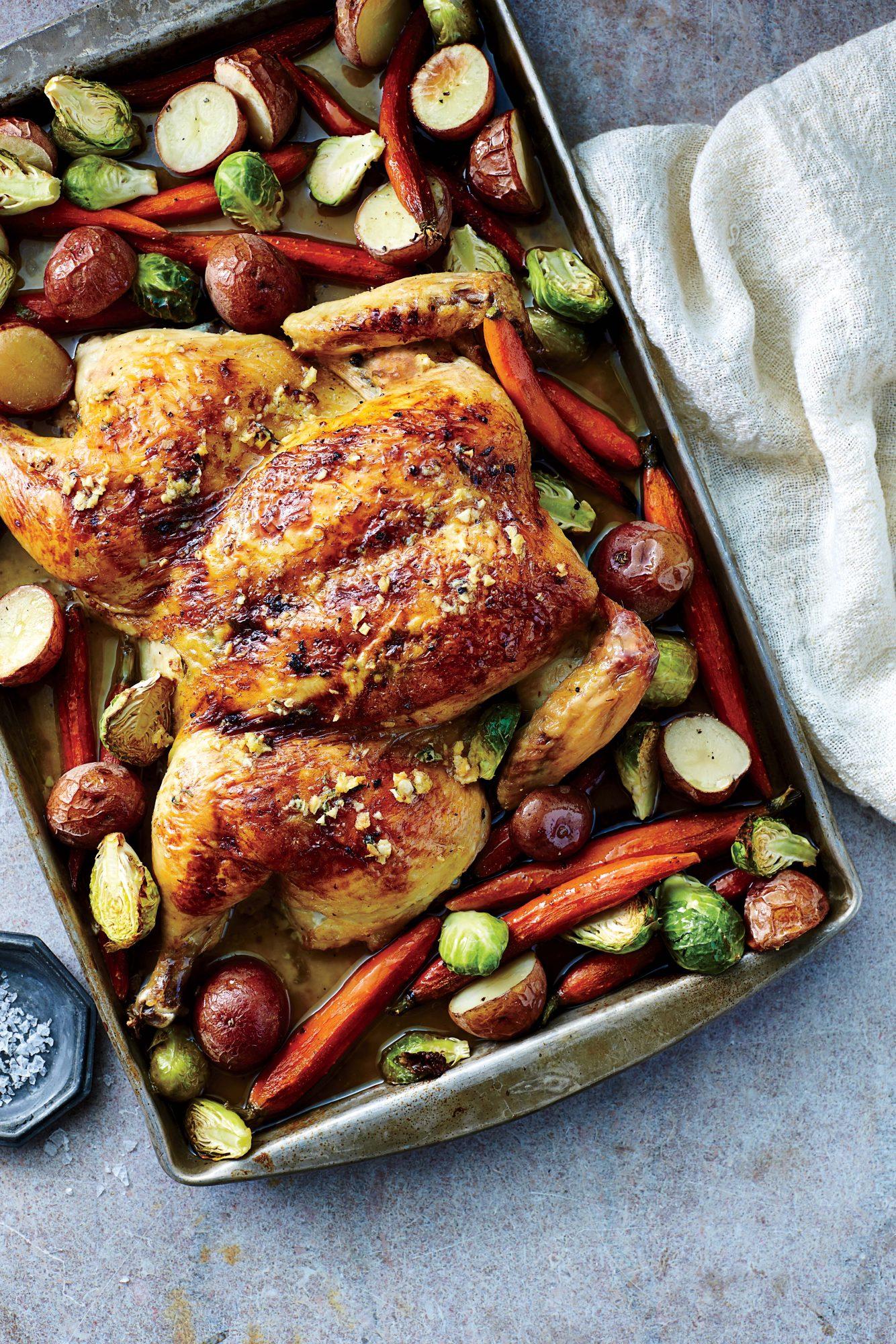 Garlicky Roasted Spatchcock Chicken Recipe Myrecipes