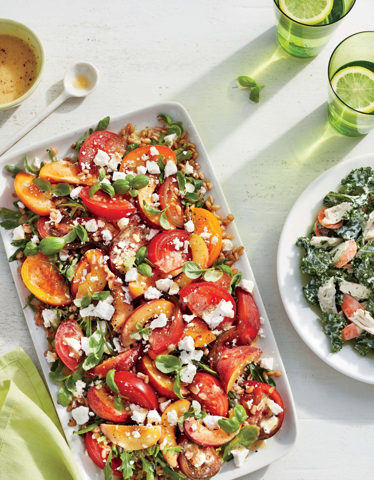 Farro, Heirloom Tomato, and Peach Salad