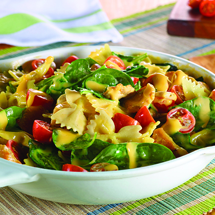 VELVEETA® One Pan Creamy Chicken & Spinach Pasta