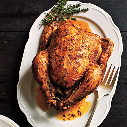 How long to cook whole roast chicken
