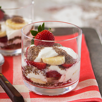 <p>Juicy Juice® Strawberry Banana Chia Parfait</p>