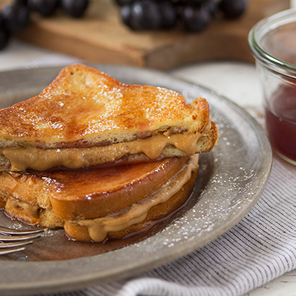 <p>Juicy Juice® PB&J French Toast</p>