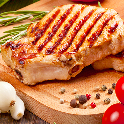 <p>Juicy Juice® Apple Pork Chops</p>