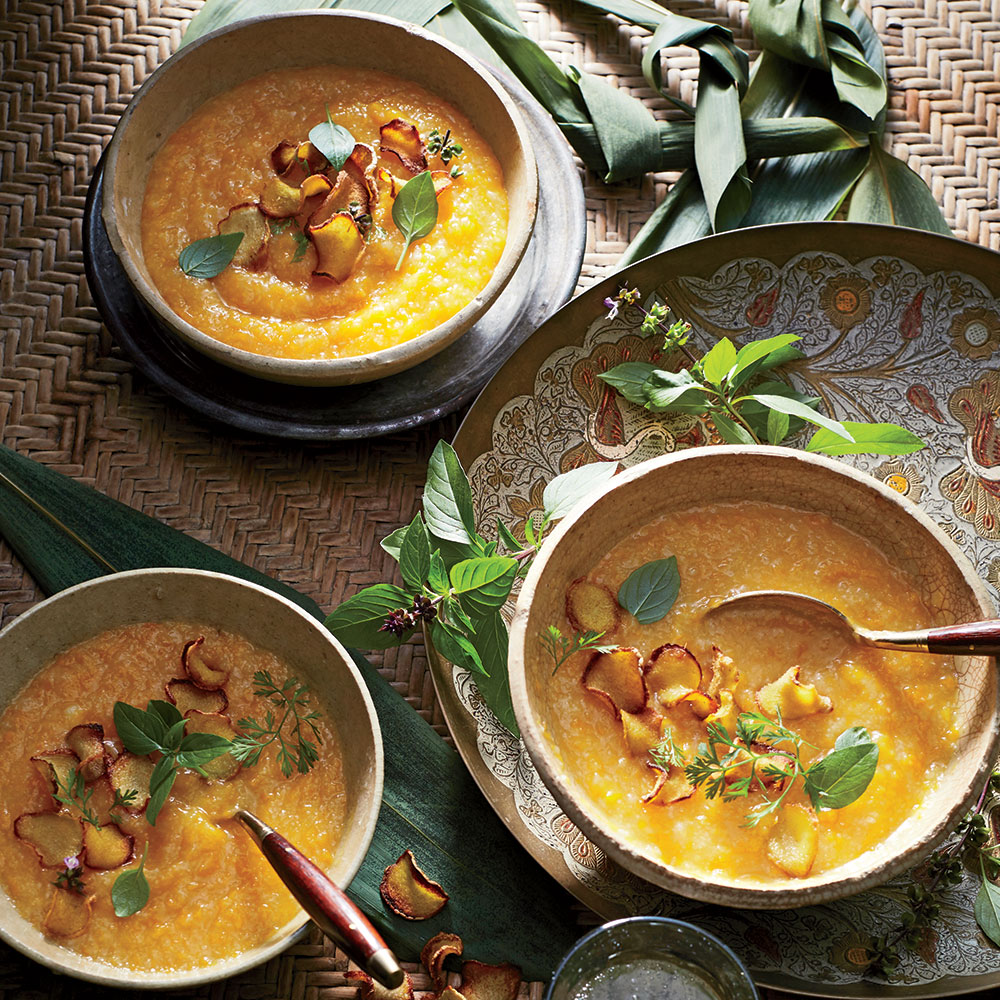 Butternut and Ginger Congee