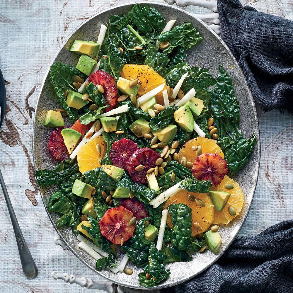 Kale, Jicama, and Orange Salad