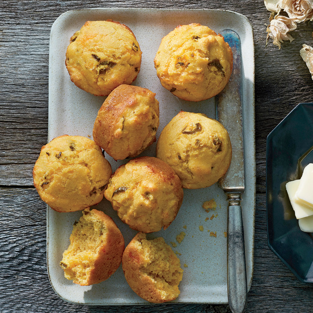 Cheesy Jalapeño Sour Cream Corn Muffins