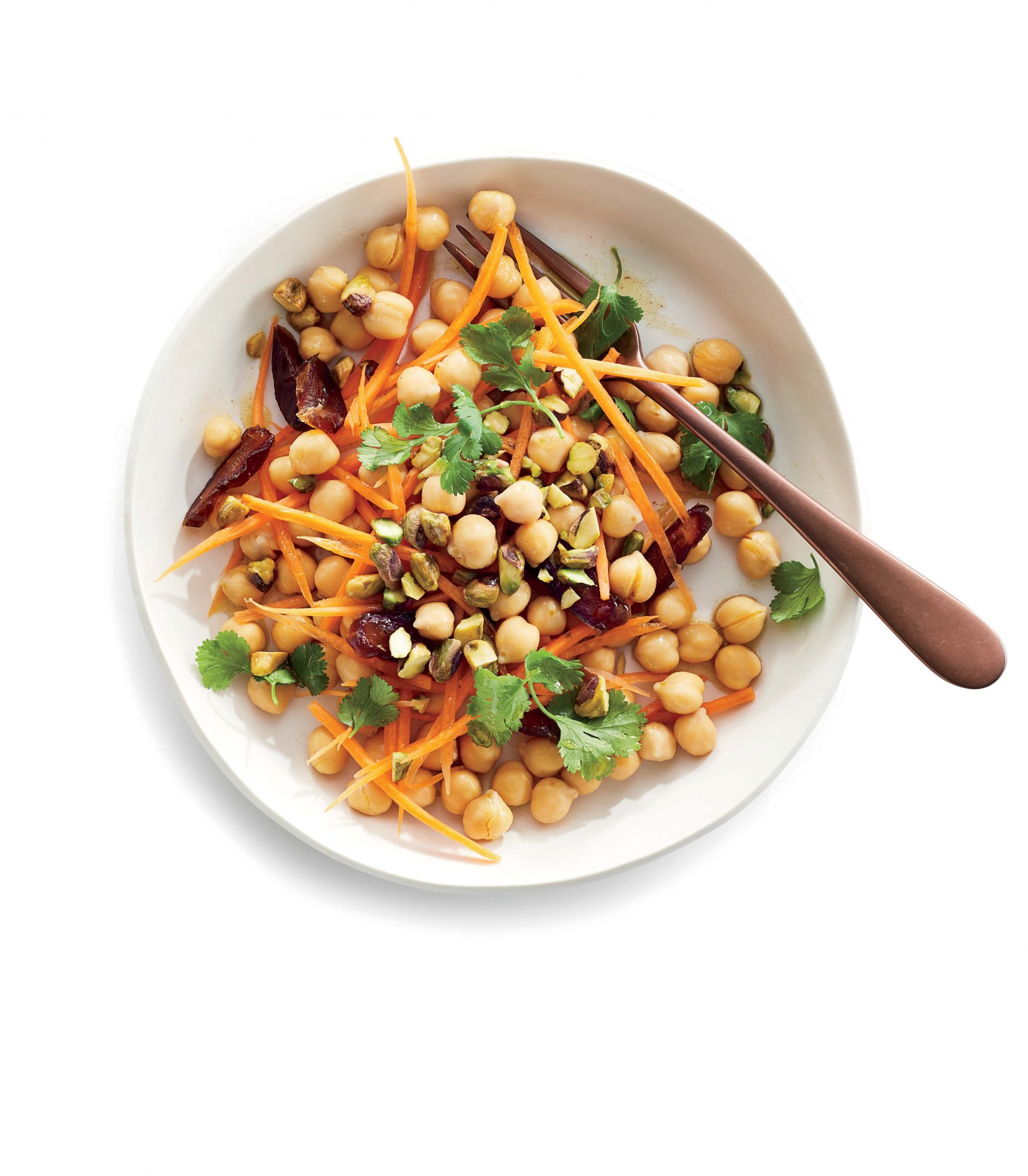 Chickpeas with Spiced Carrots, Dates, and Pistachios