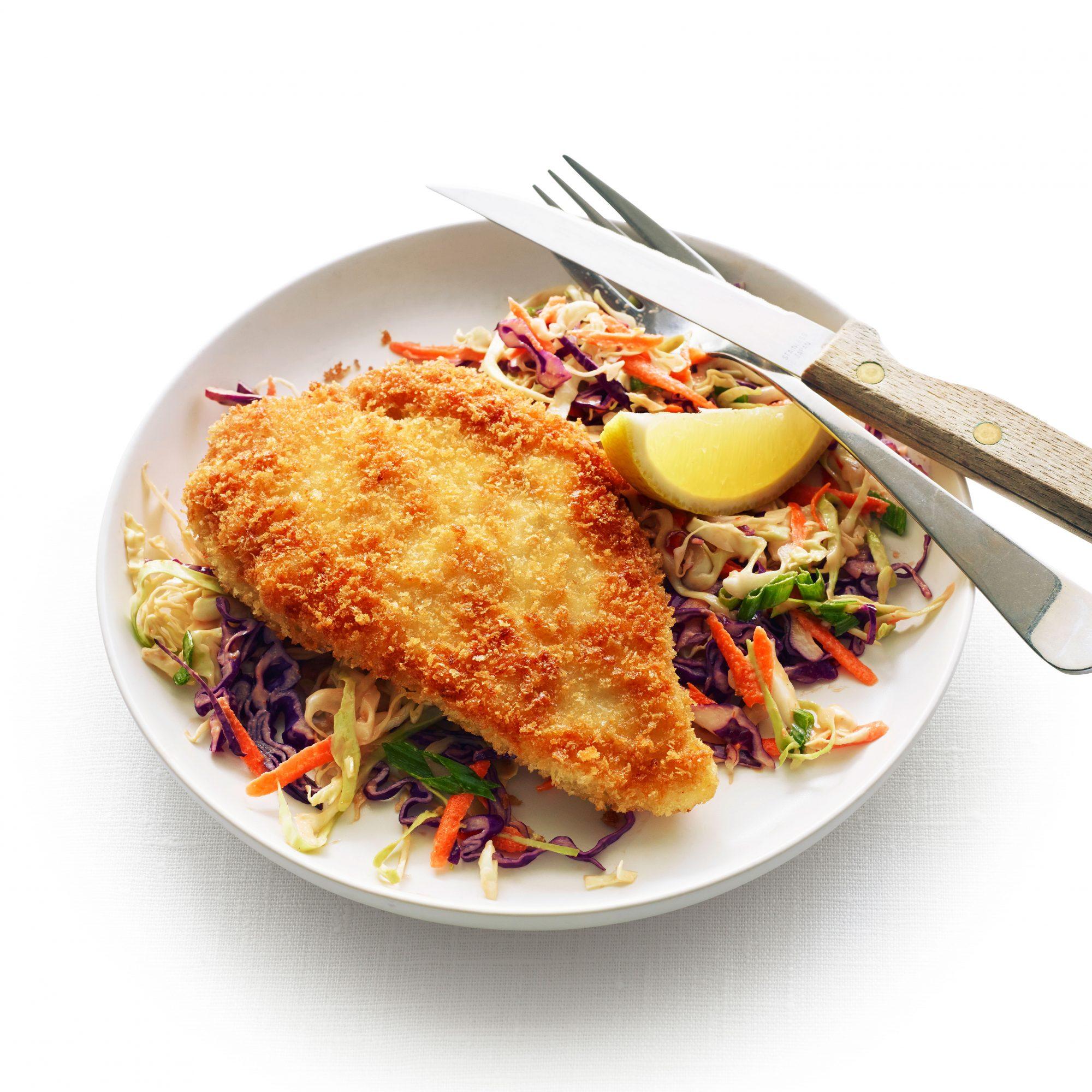 Chicken Katsu with Tonkatsu Slaw