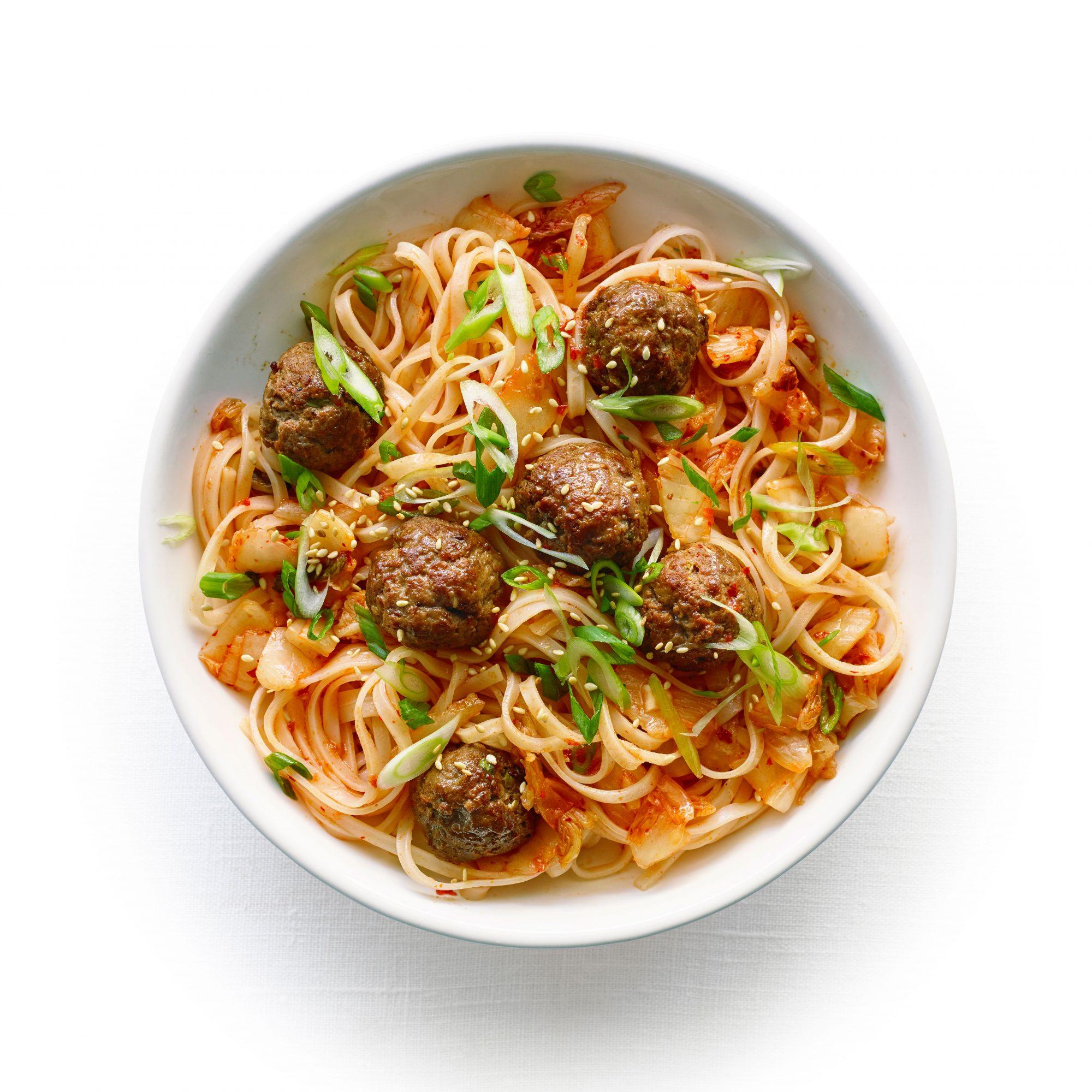 Korean Spaghetti and Meatballs
