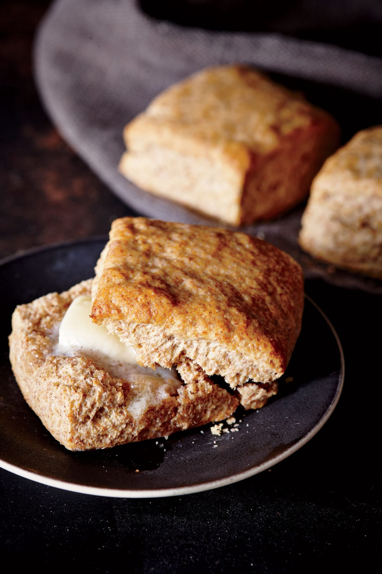 ck-Whole-Grain Spelt and Cornmeal Biscuits Image