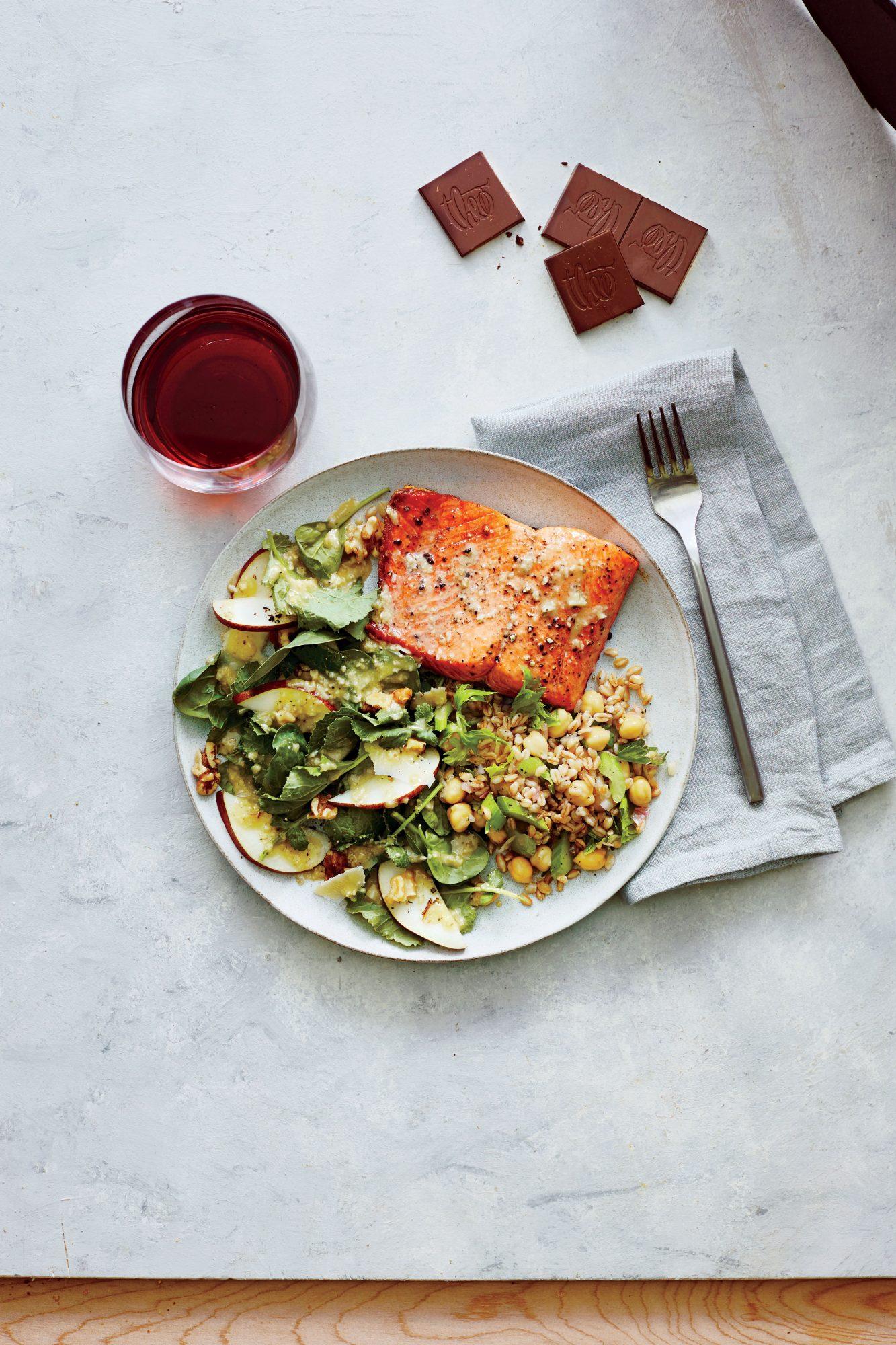 Chickpea Farro Salad