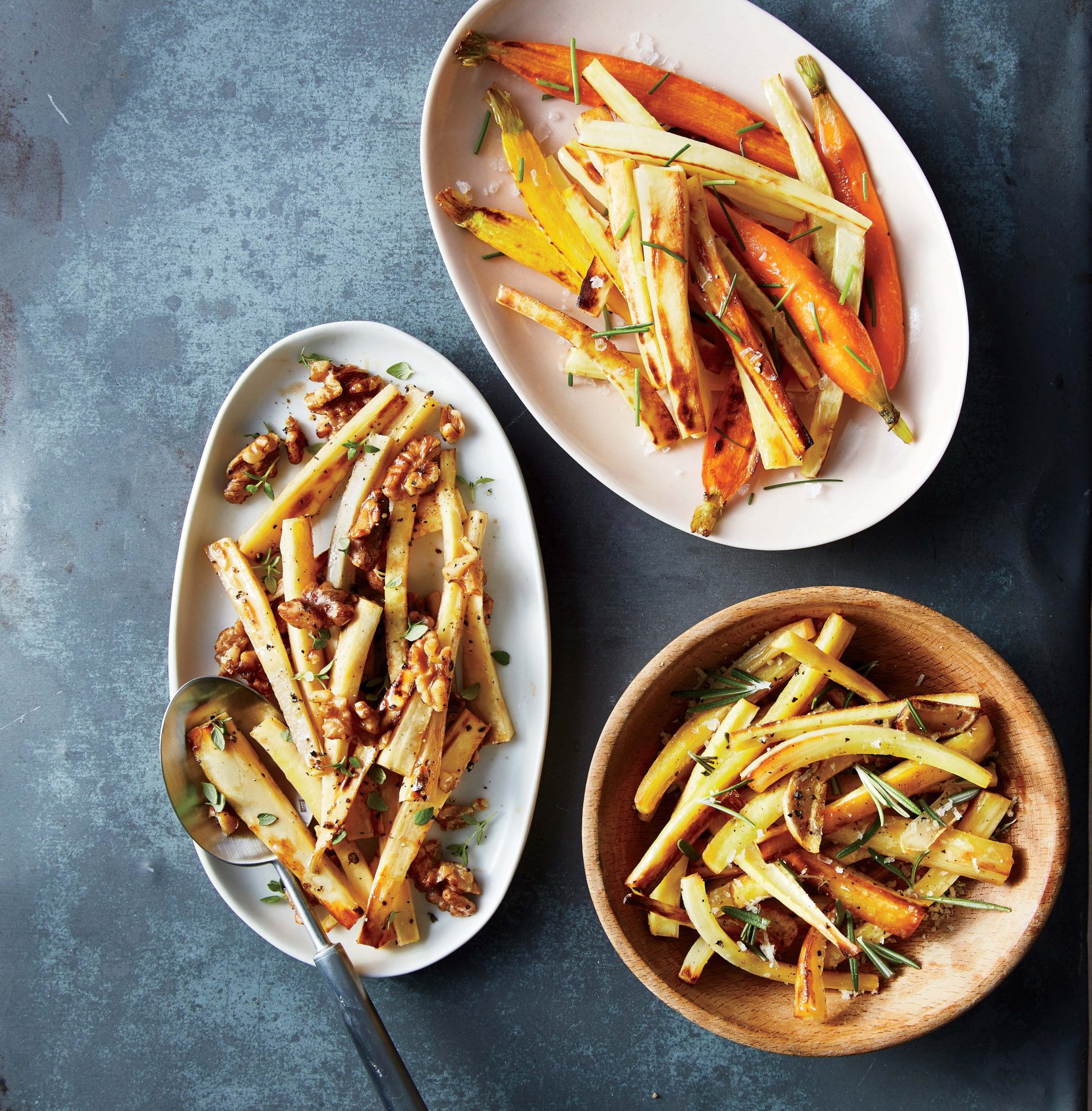 Roasted Parsnips with Walnuts, Maple, and Thyme