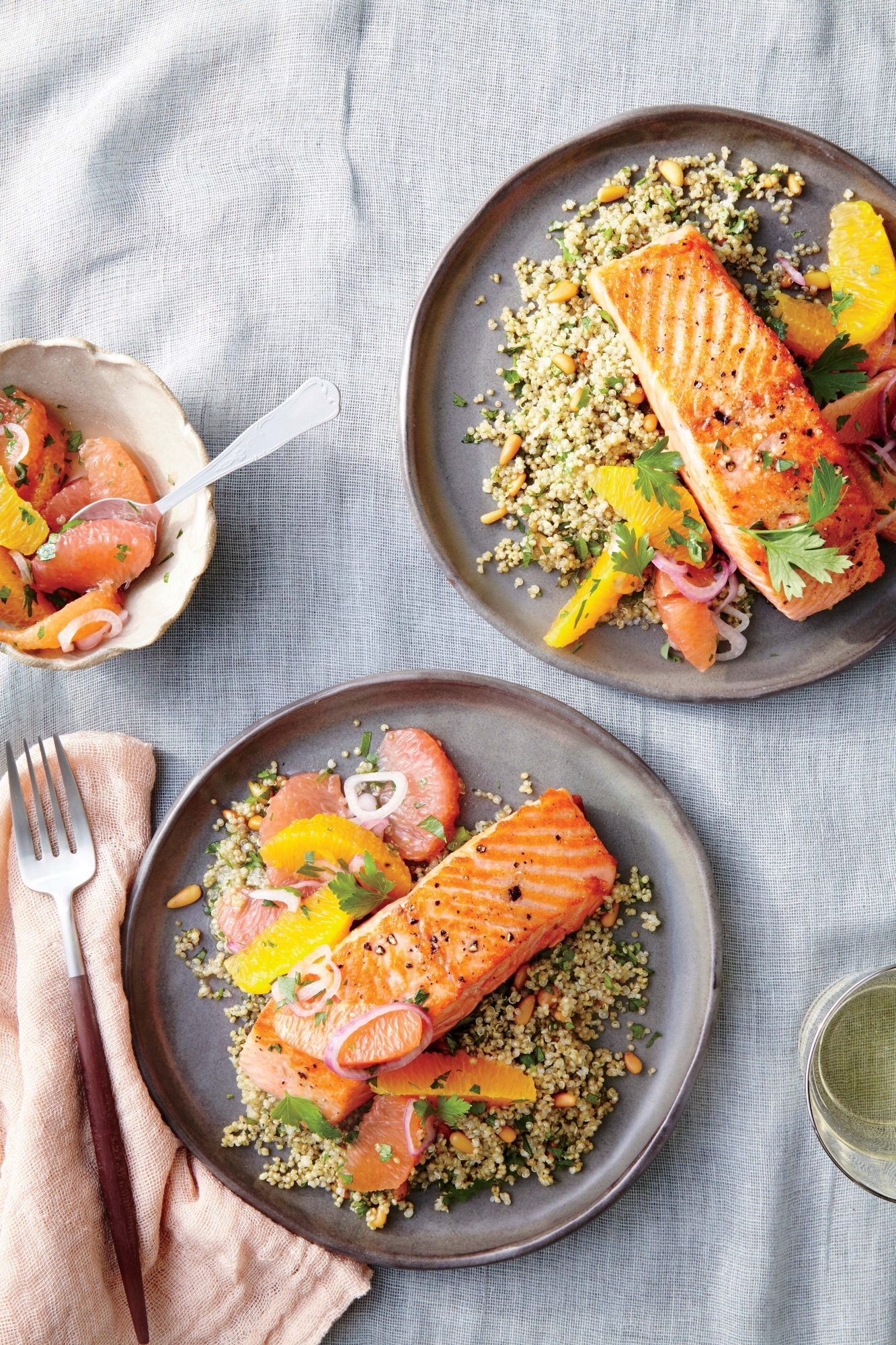 Saut 233 Ed Salmon With Citrus Salsa Recipe Myrecipes