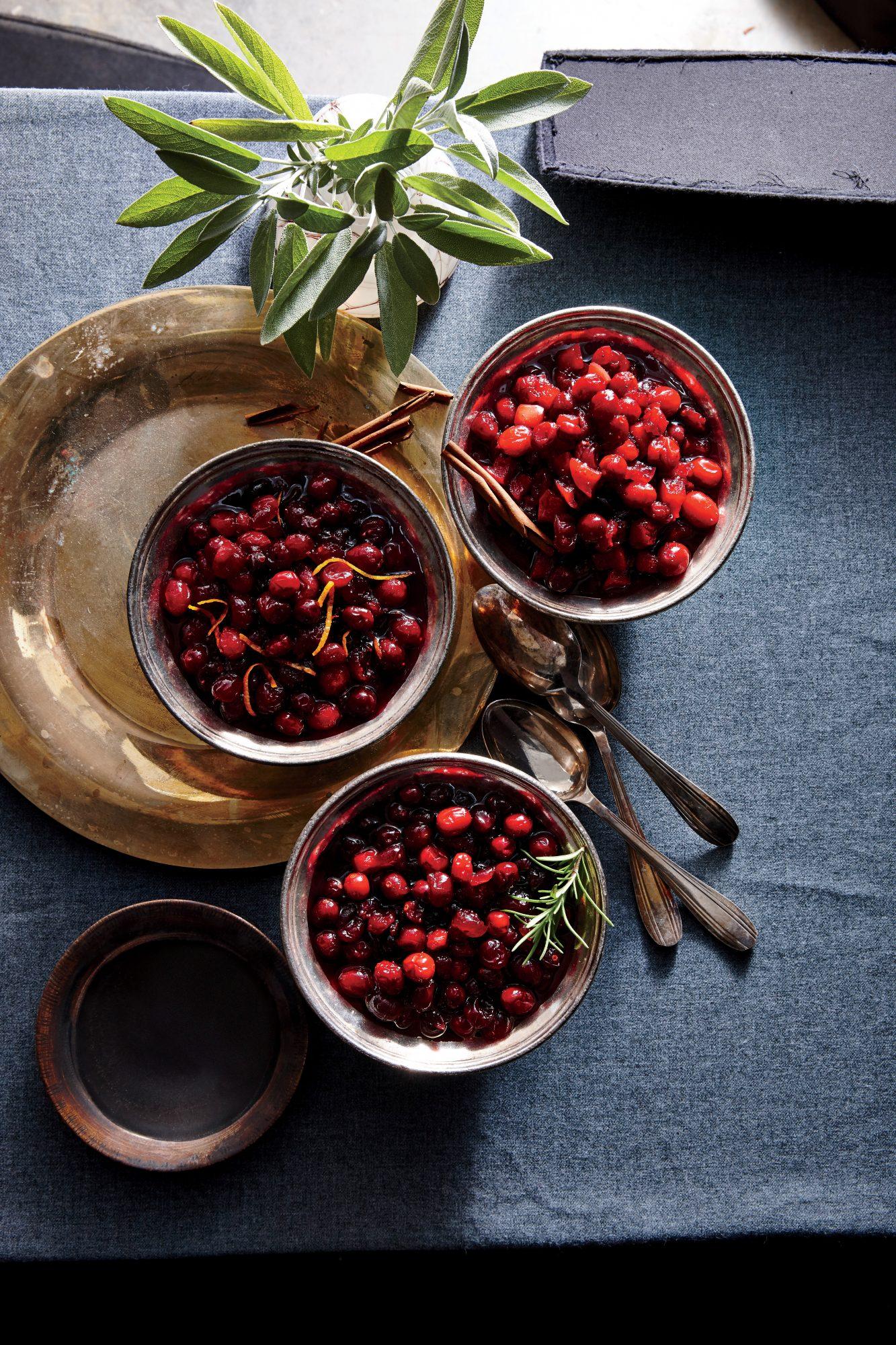 Spiced-Apple Cranberry Sauce