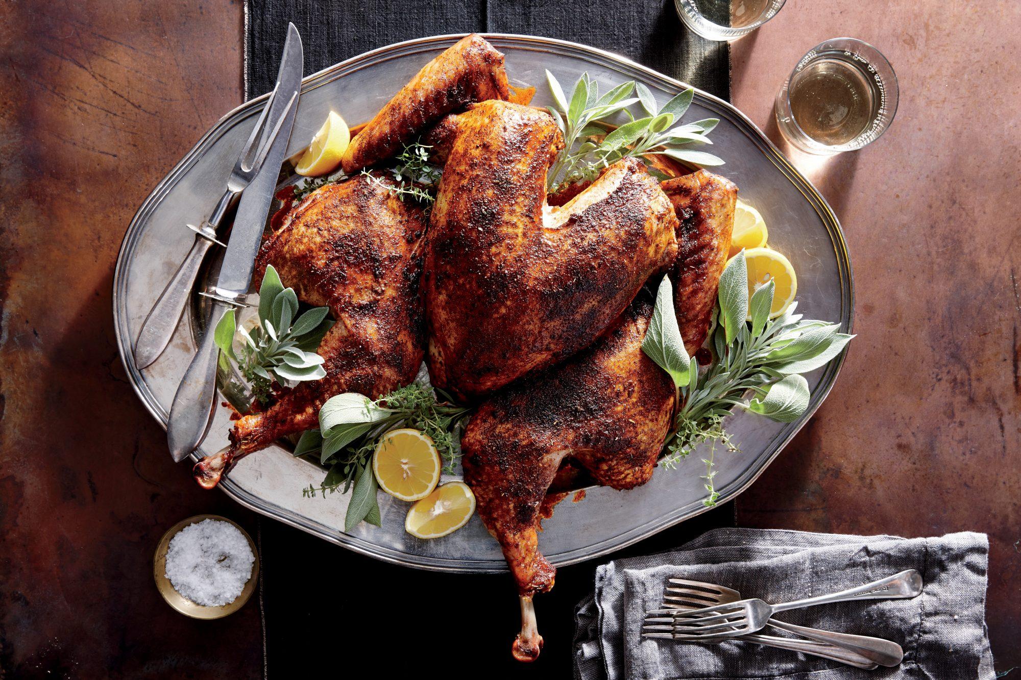 Smoky Spatchcocked Turkey