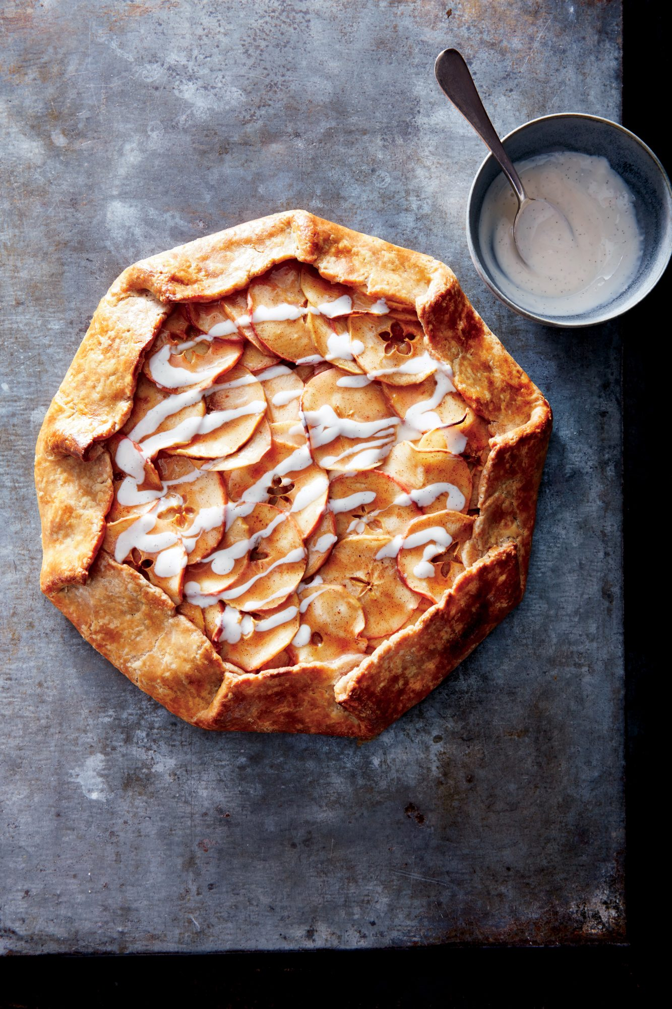 Apple Galette with Vanilla Yogurt Drizzle
